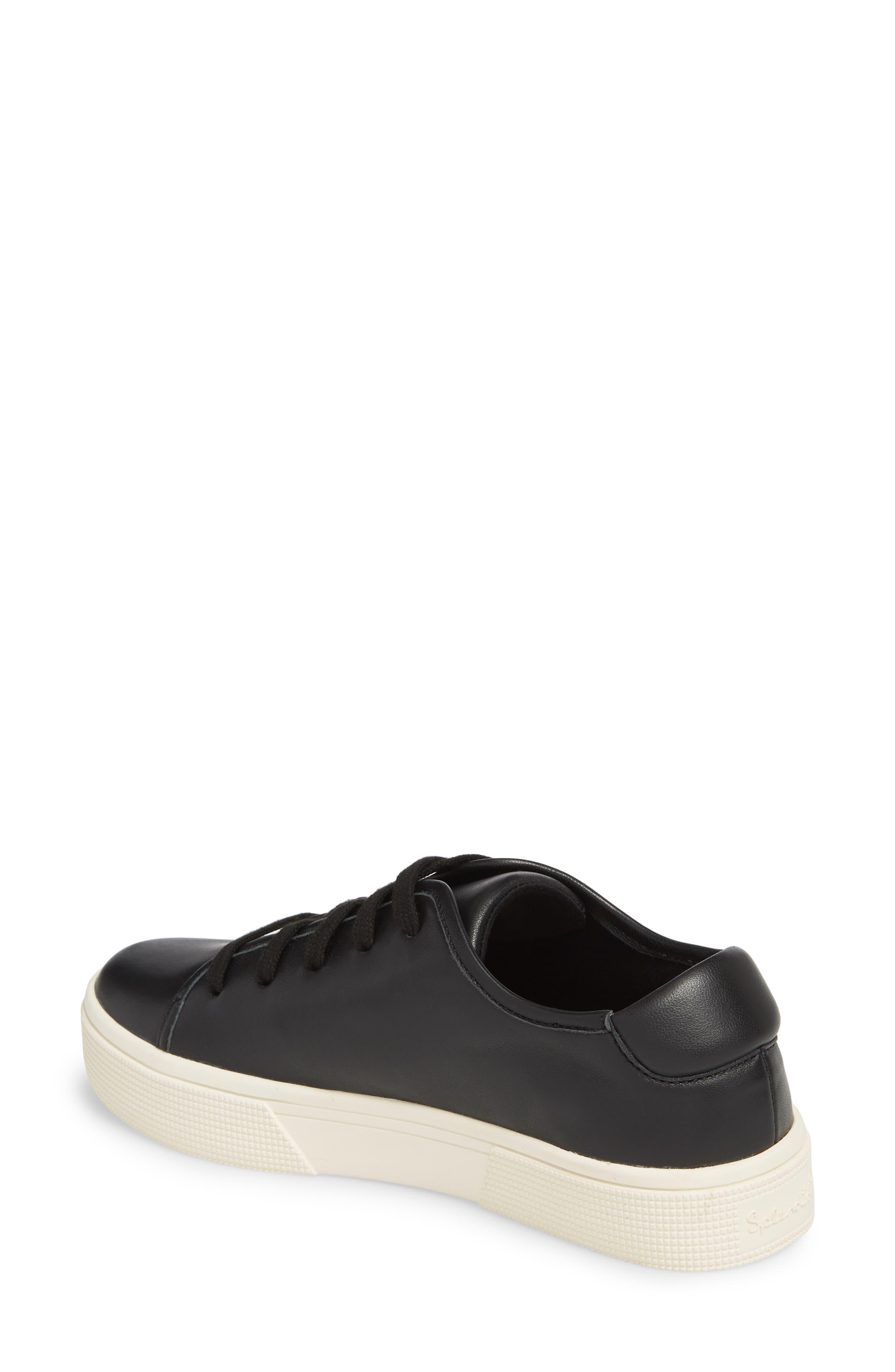 Norvin Sneaker,                             Alternate thumbnail 2, color,                             BLACK LEATHER