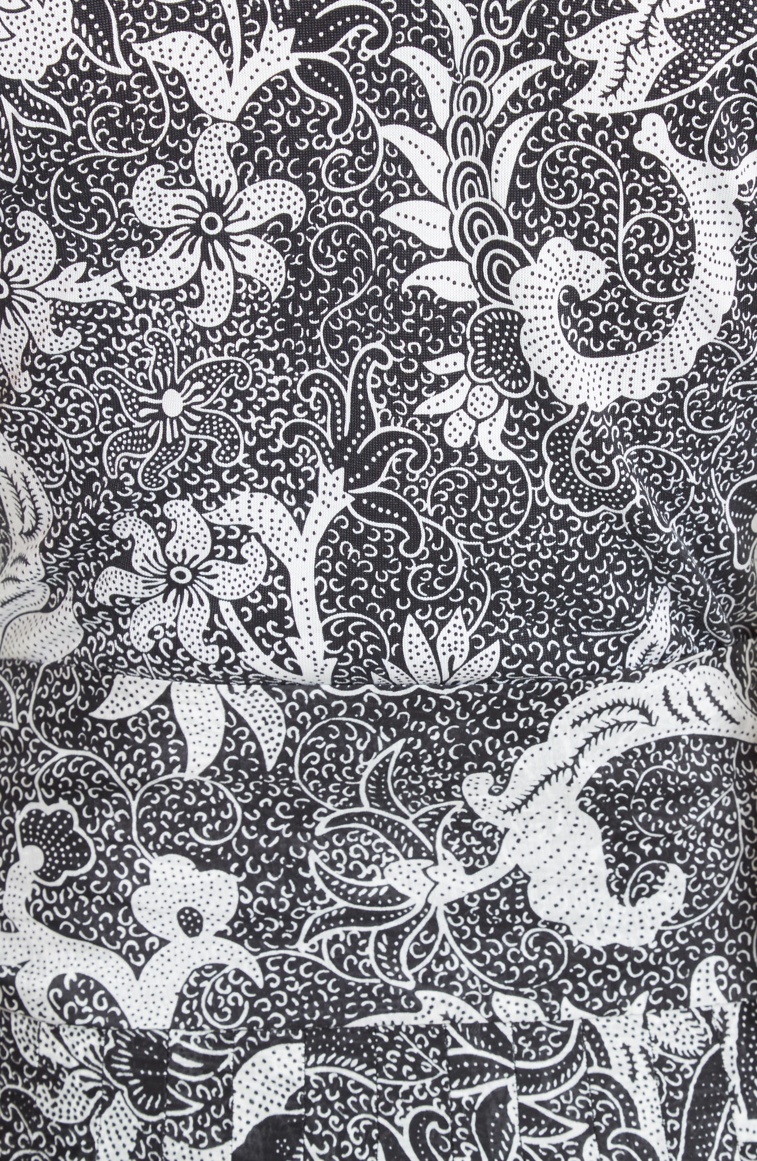 Cotton & Silk Maxi Dress,                             Alternate thumbnail 5, color,