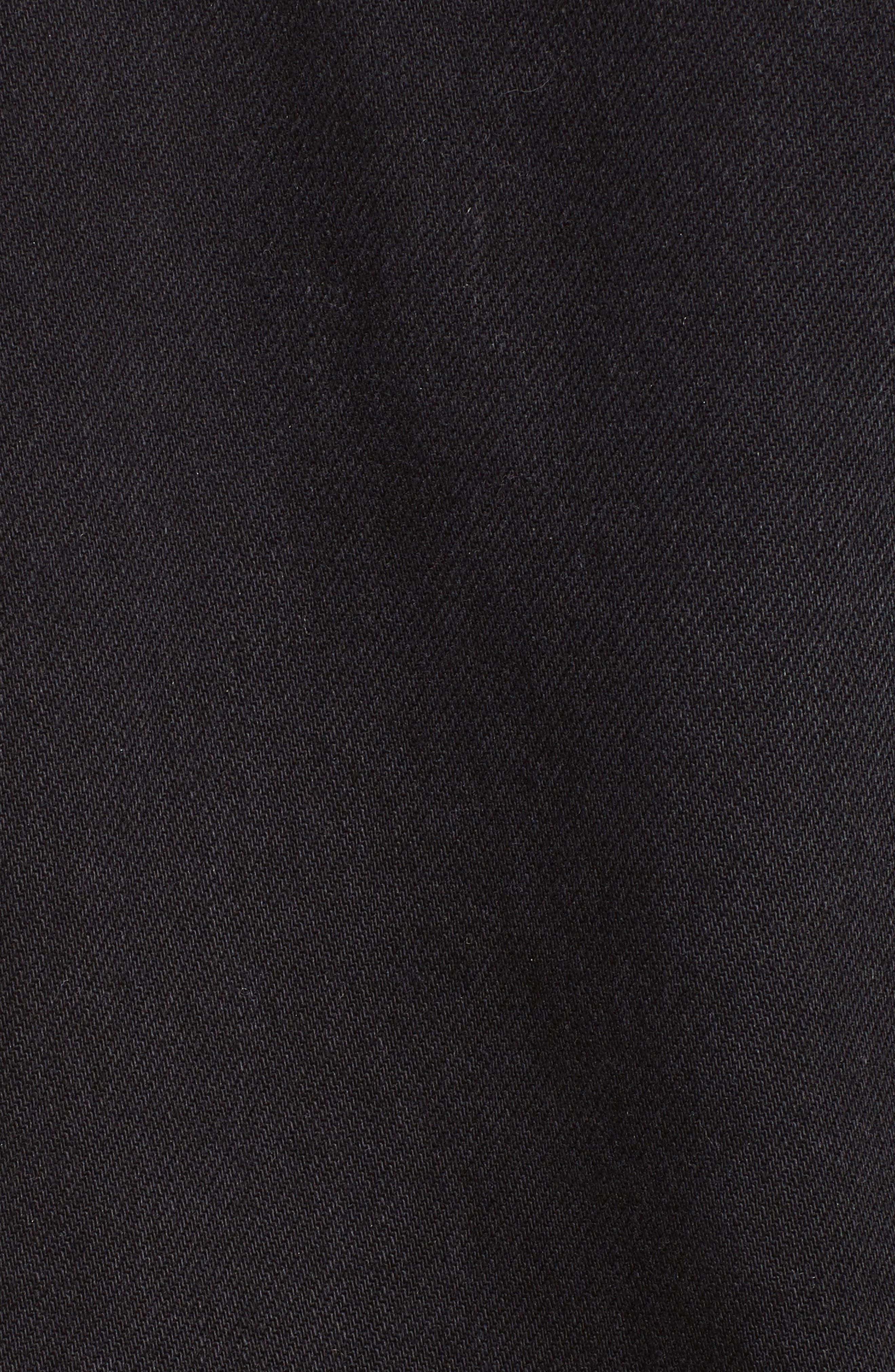 Le Cuffed Denim Jacket,                             Alternate thumbnail 5, color,                             001