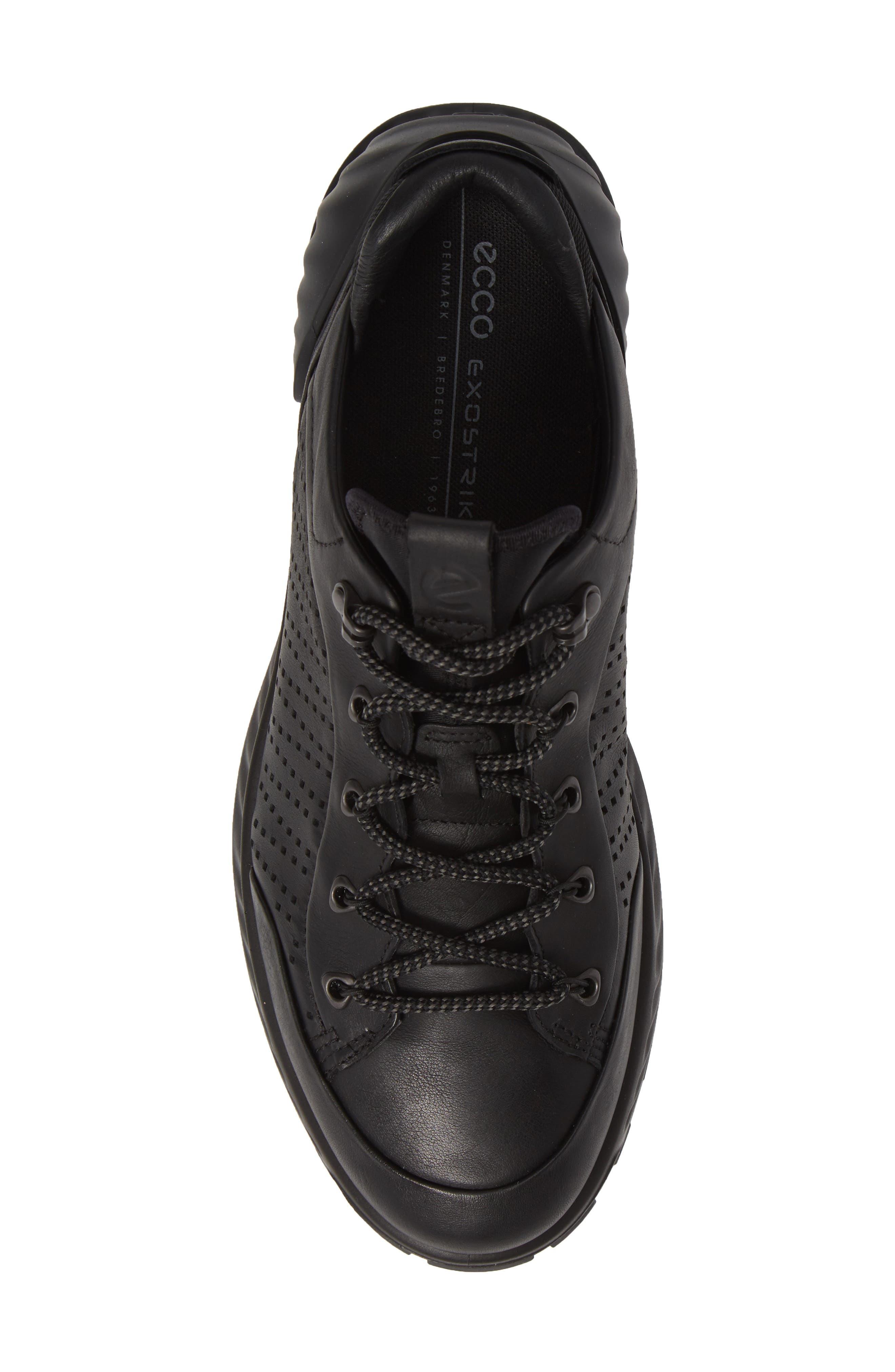 Exostrike High Top Sneaker,                             Alternate thumbnail 5, color,                             BLACK LEATHER