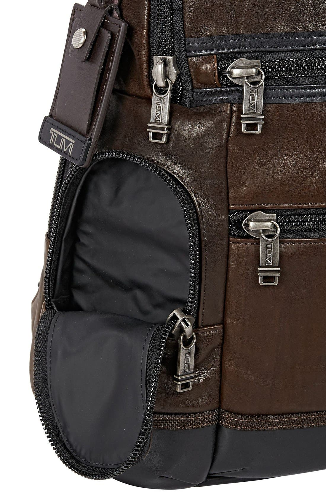 'Bravo - Knox' Leather Backpack,                             Alternate thumbnail 3, color,                             204