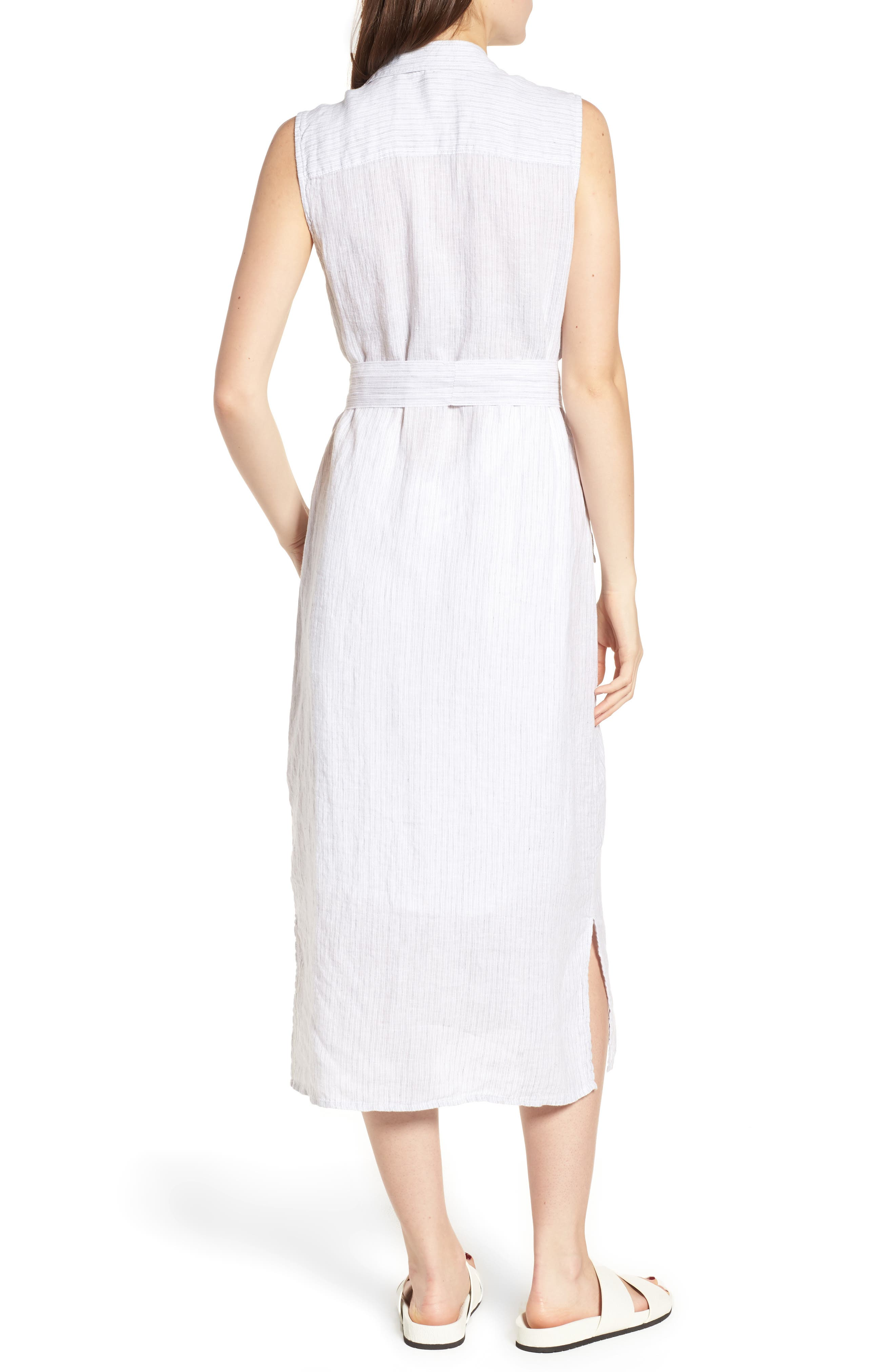 Stripe Linen Shirtdress,                             Alternate thumbnail 2, color,                             053