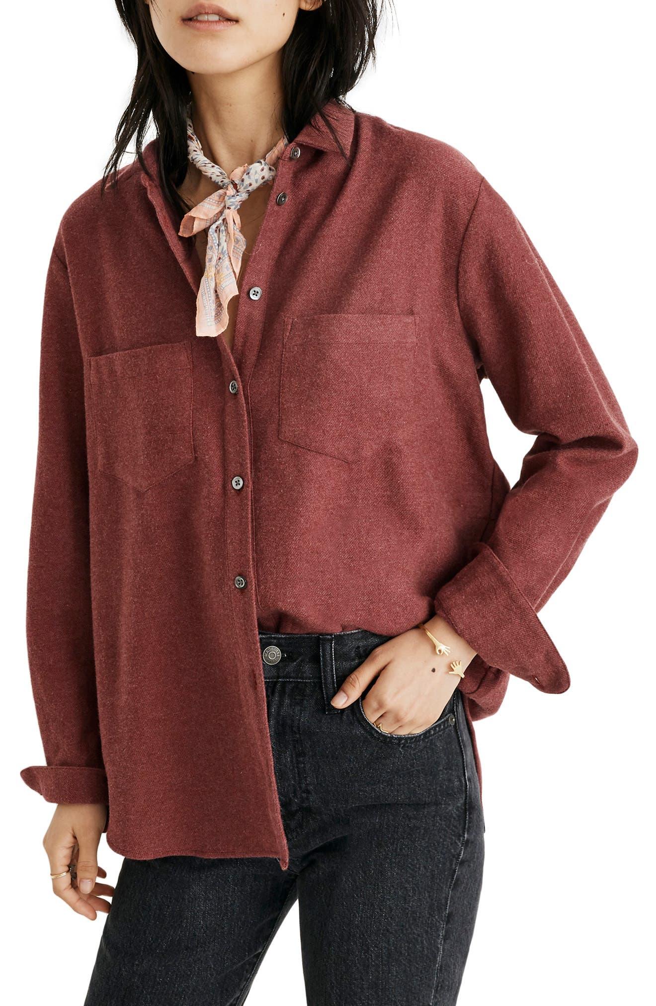 MADEWELL Flannel Sunday Shirt, Main, color, 600