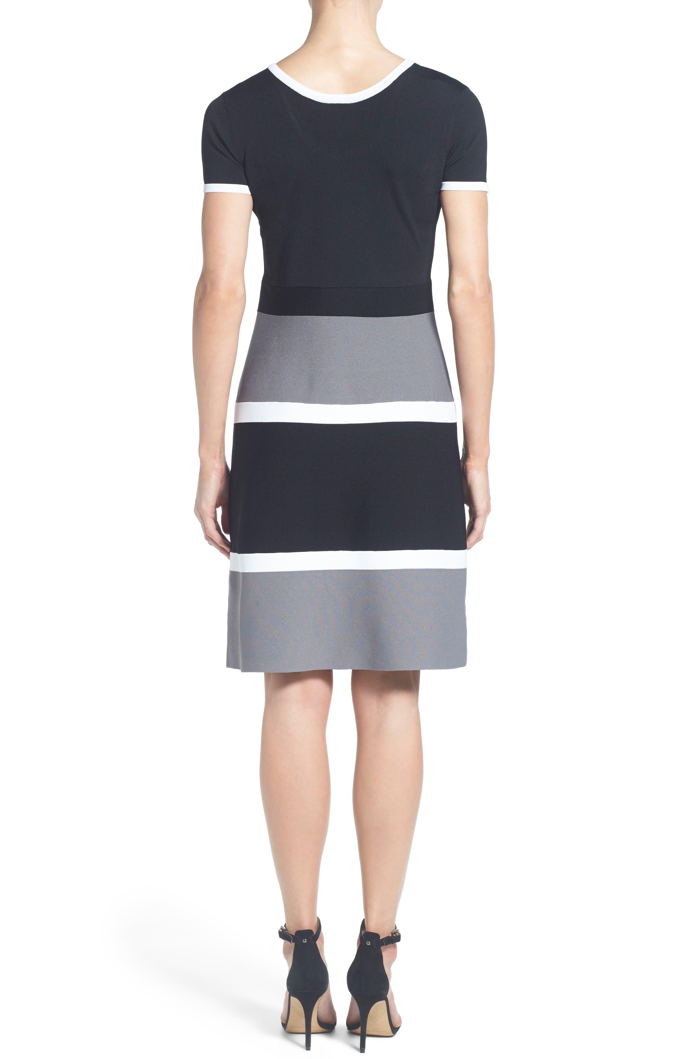 Colorblock A-Line Knit Dress,                         Main,                         color,