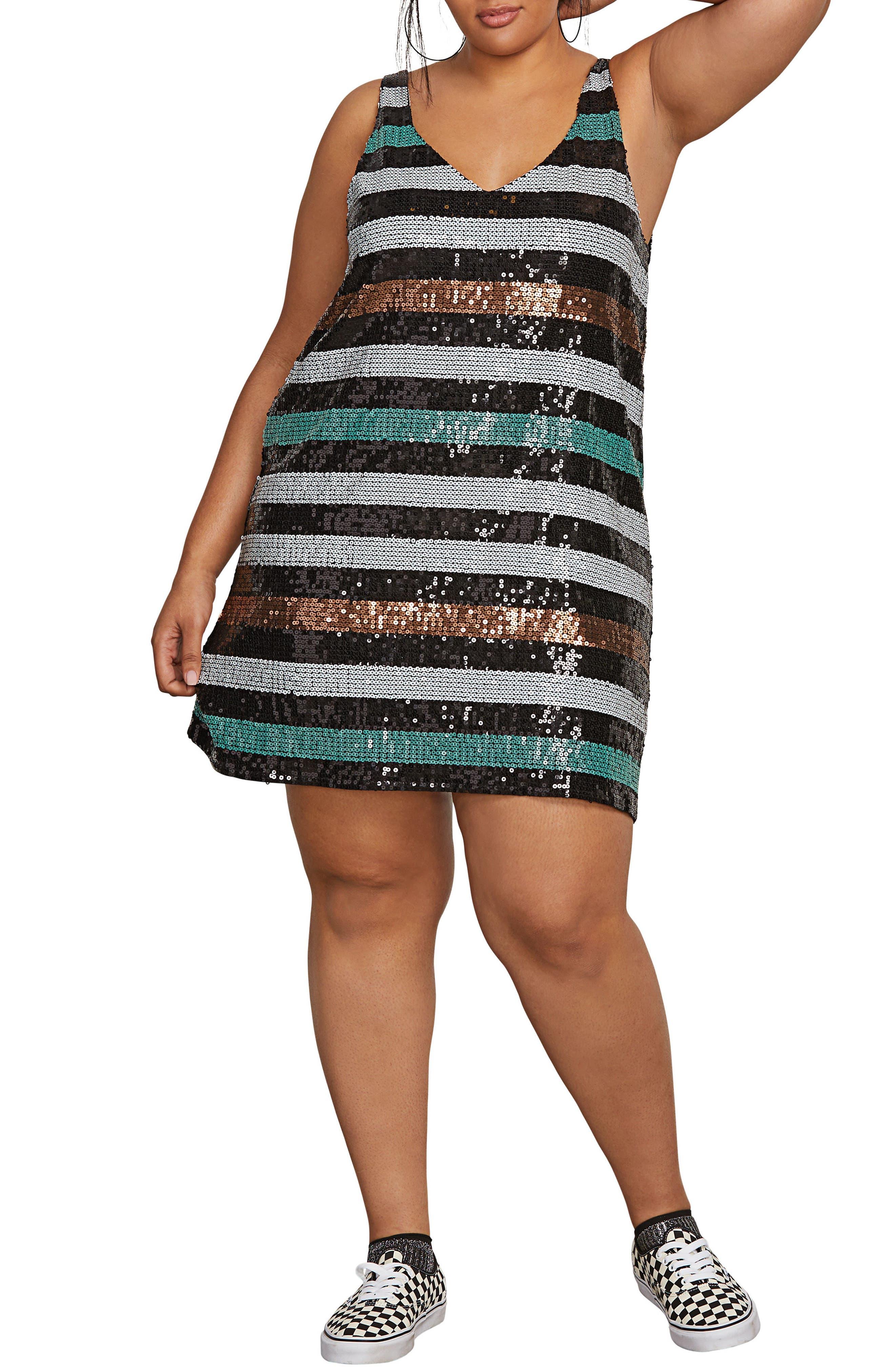 Seek Whence Sequin Dress,                             Main thumbnail 1, color,                             MULTI
