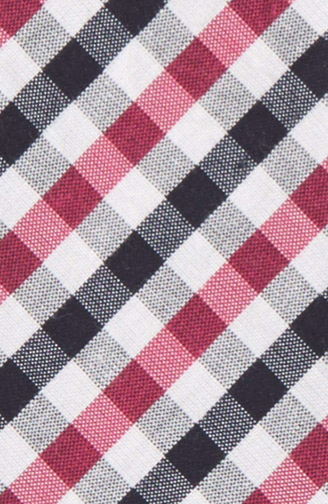 'Bloomquist' Check Silk Blend Bow Tie,                             Alternate thumbnail 5, color,
