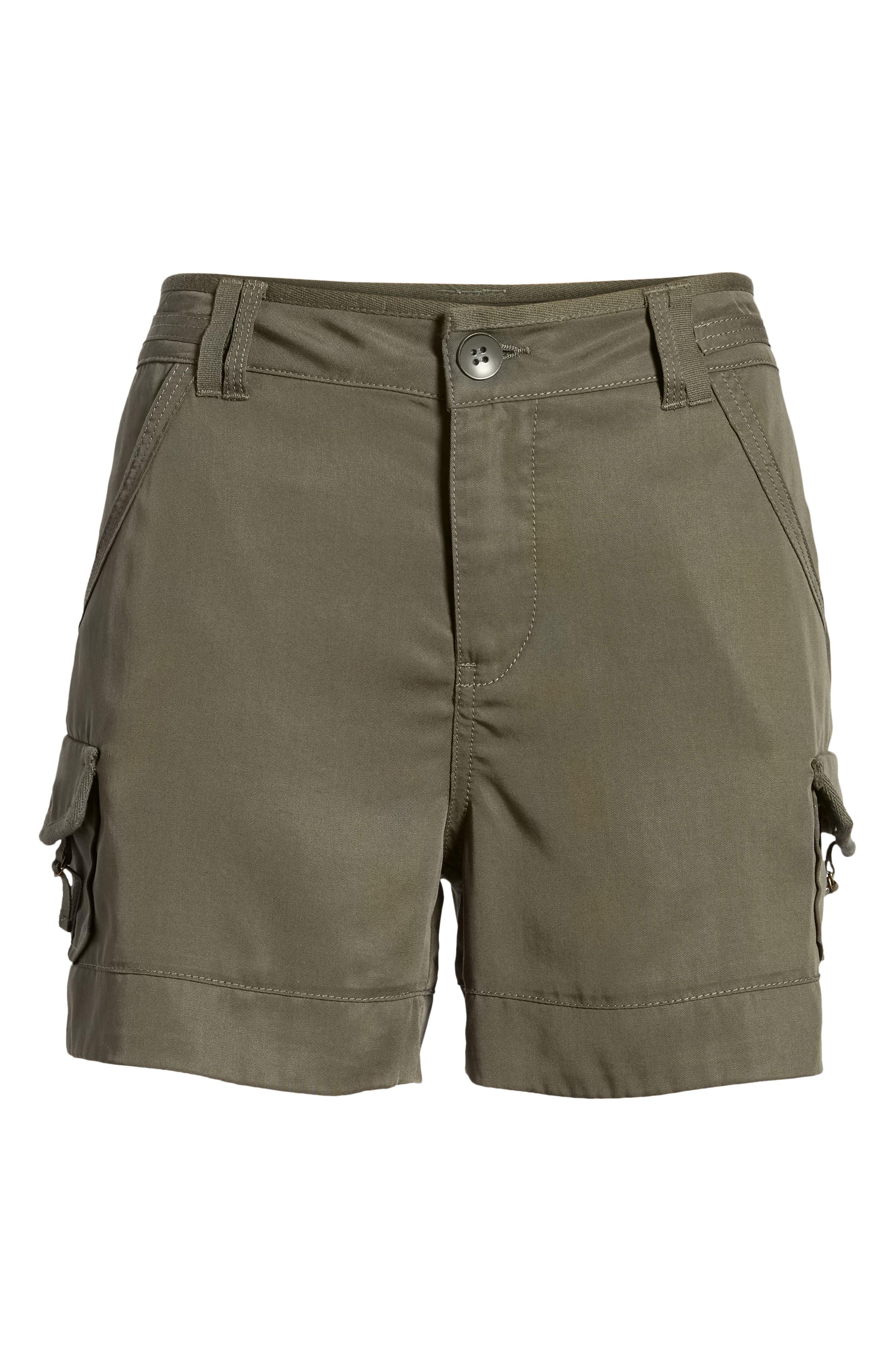 High Rise Tencel Shorts,                             Alternate thumbnail 24, color,