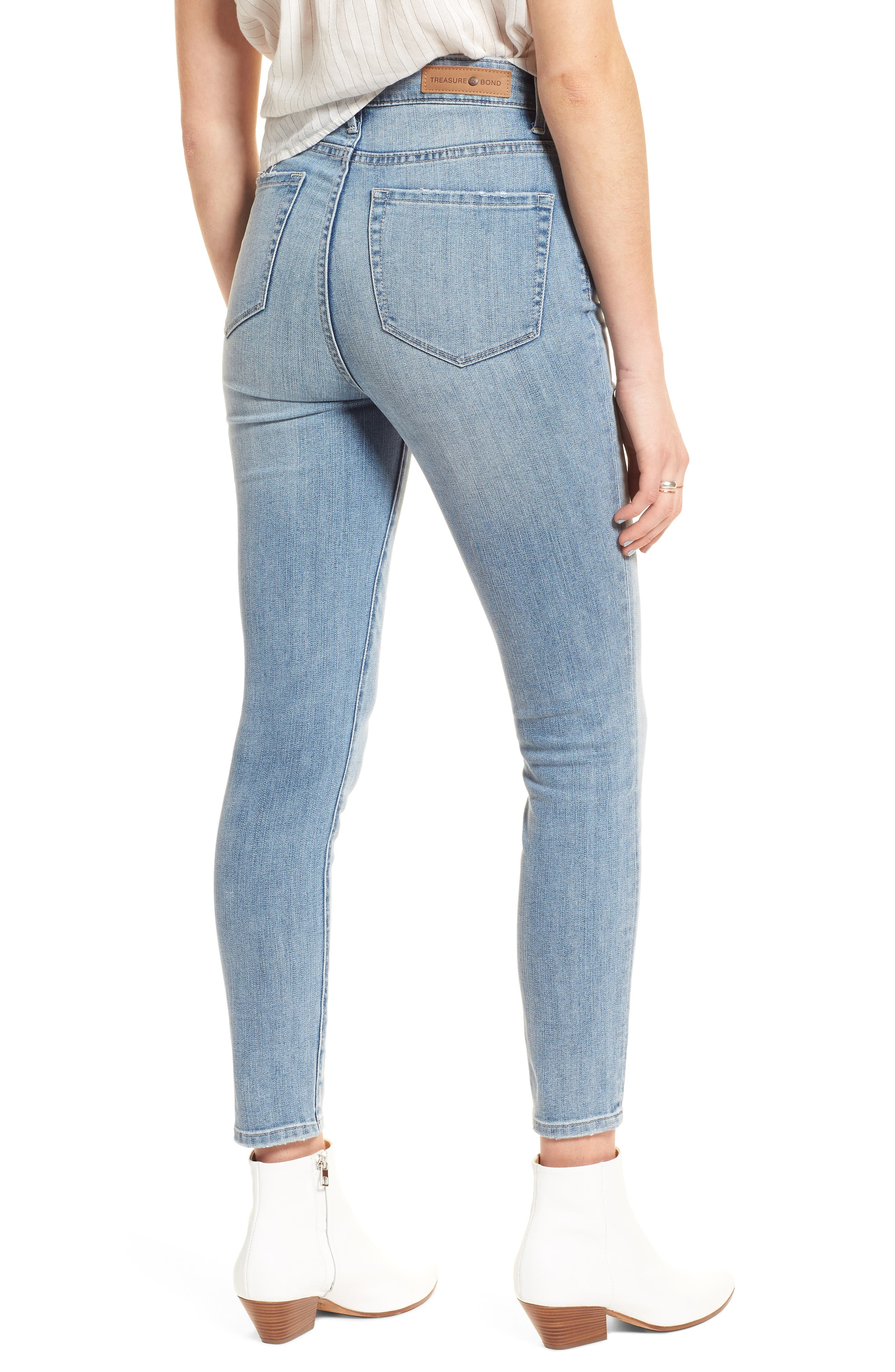 Charity High Waist Crop Skinny Jeans,                             Alternate thumbnail 2, color,                             420