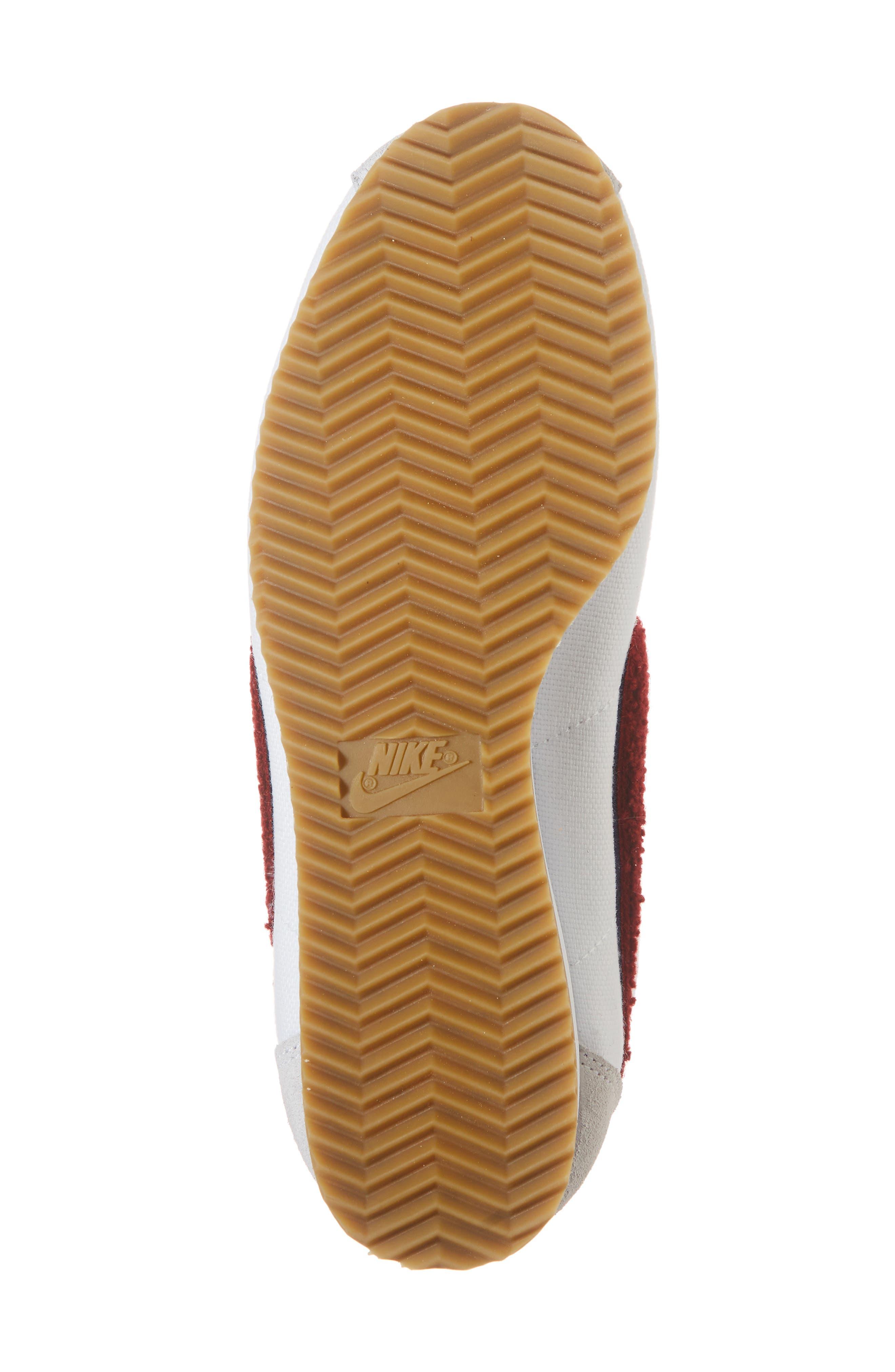 Classic Cortez Premium XLV Sneaker,                             Alternate thumbnail 6, color,                             WHITE/ RED CRUSH/ LIGHT BROWN