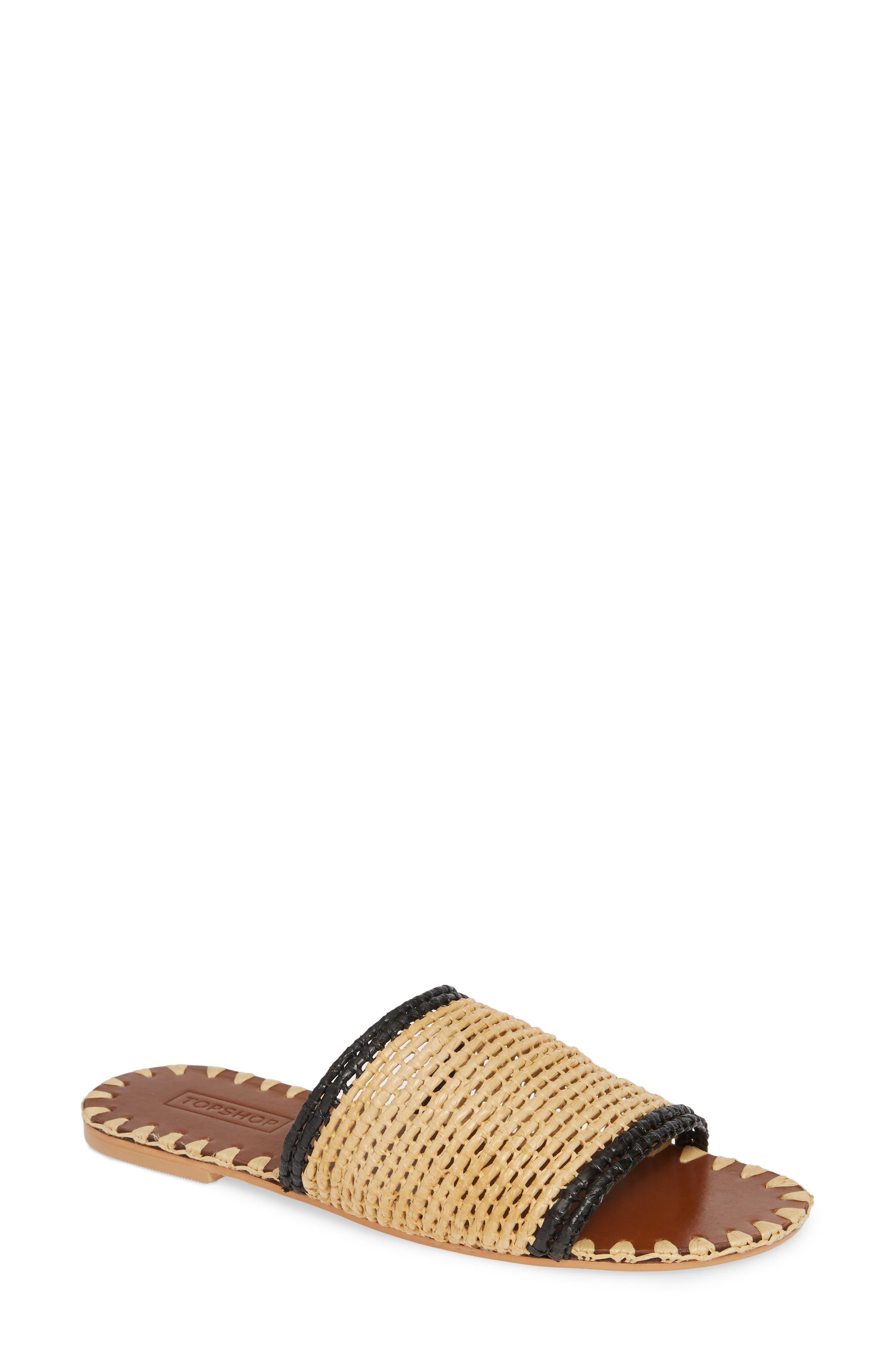 Fresh Woven Slide Sandal,                             Main thumbnail 1, color,                             NUDE MULTI