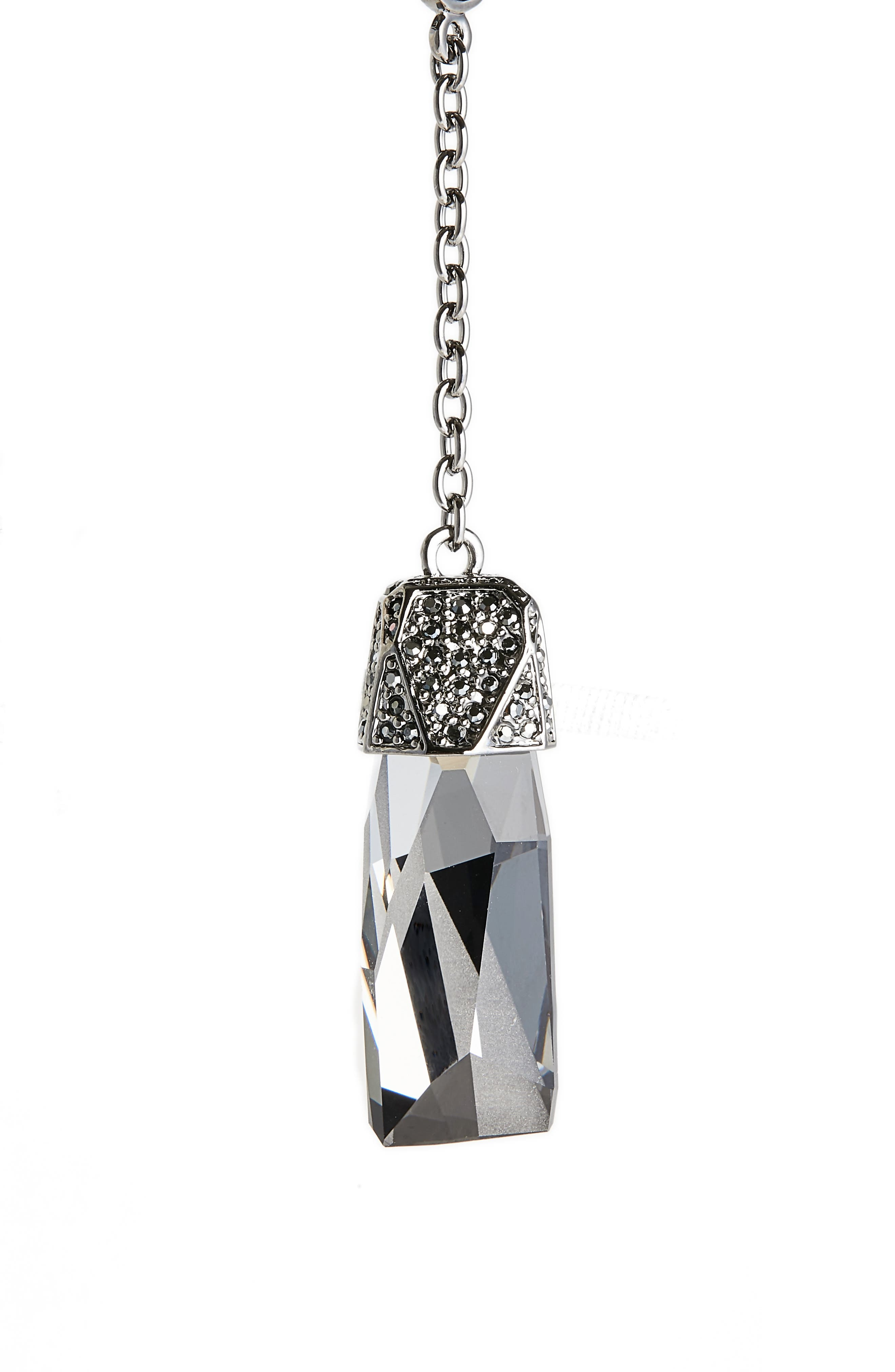 Long Swarovski Crystal Y-Necklace,                             Alternate thumbnail 2, color,                             041