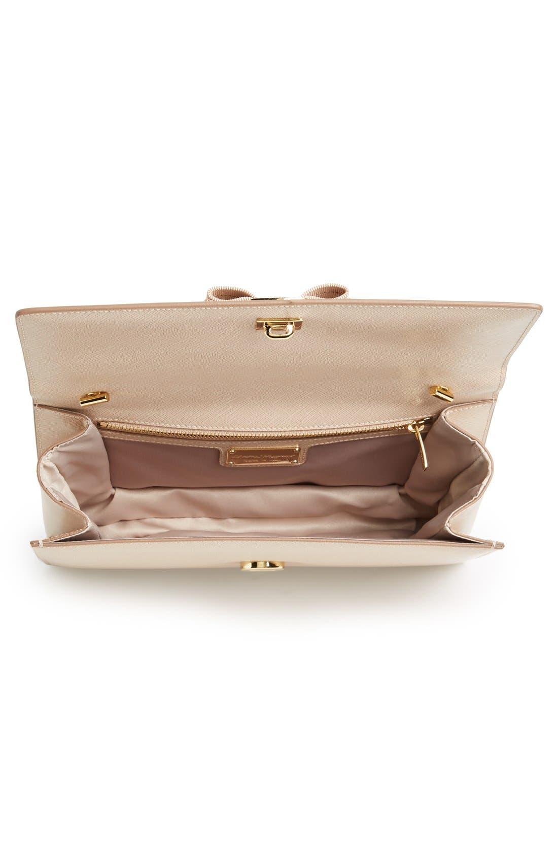 Saffiano Leather Shoulder Bag,                             Alternate thumbnail 3, color,                             250