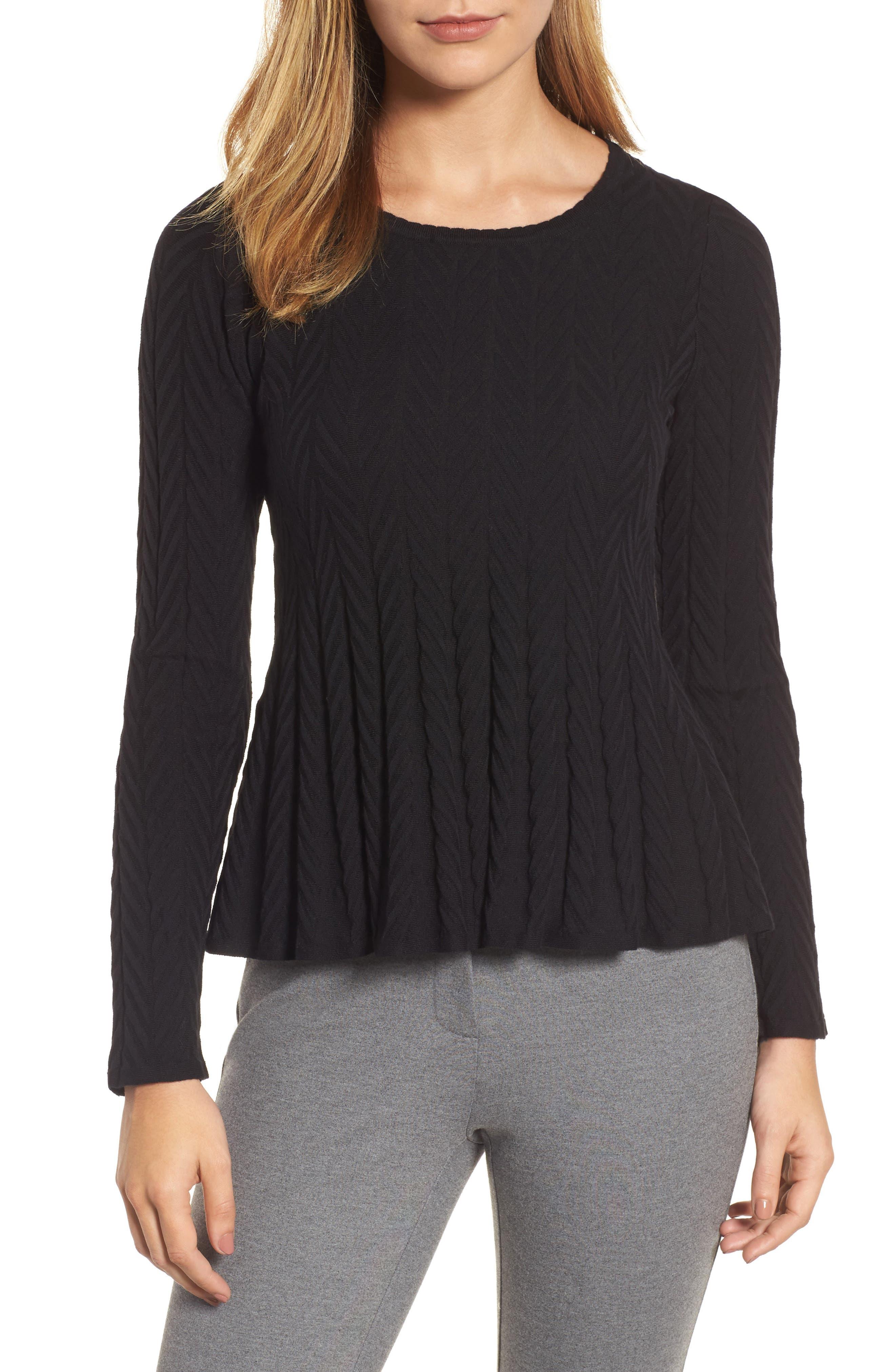 Chevron Stitch Sweater,                             Main thumbnail 1, color,                             010