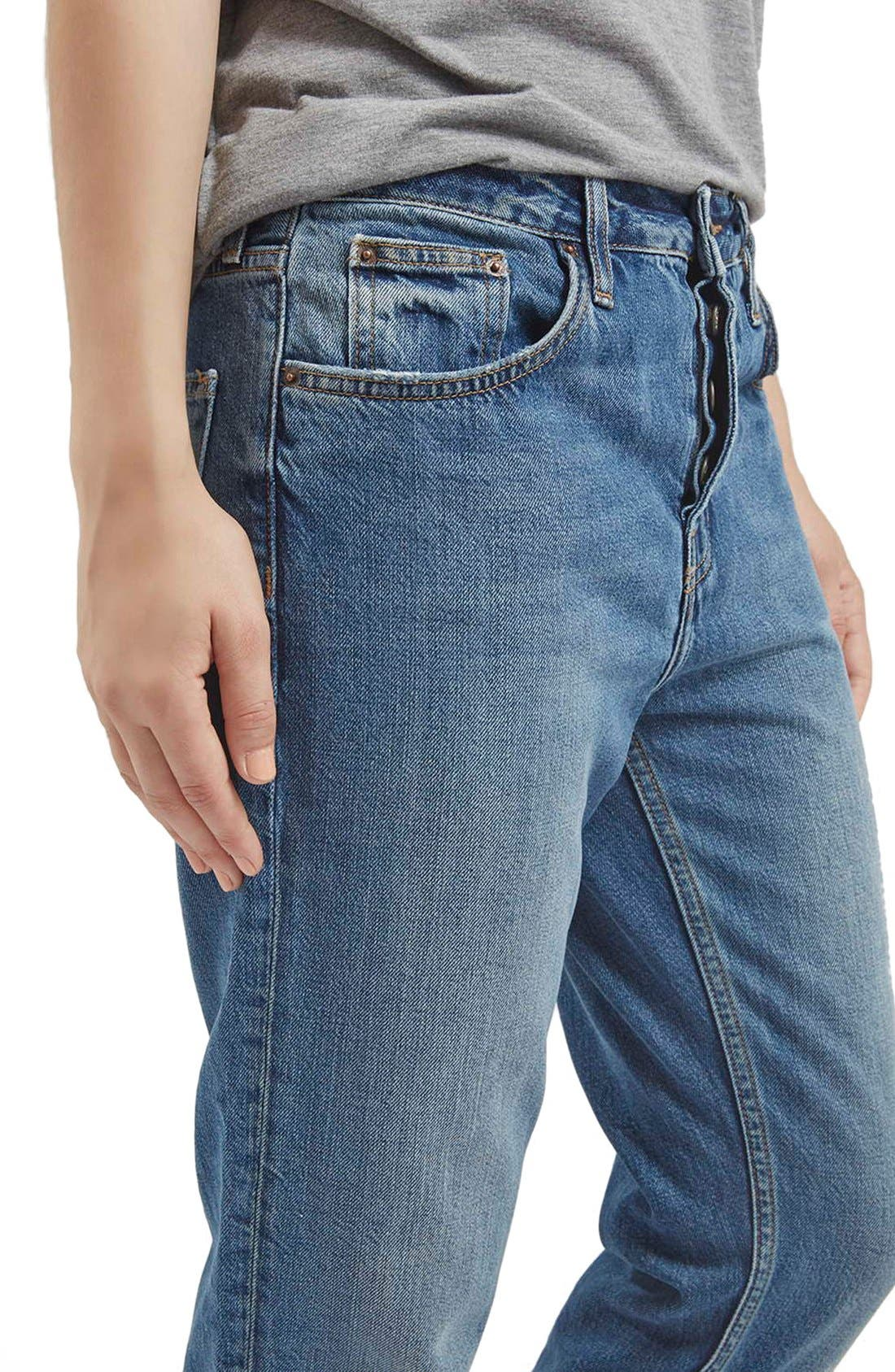 TOPSHOP,                             Moto 'Hayden' Boyfriend Jeans,                             Alternate thumbnail 6, color,                             400