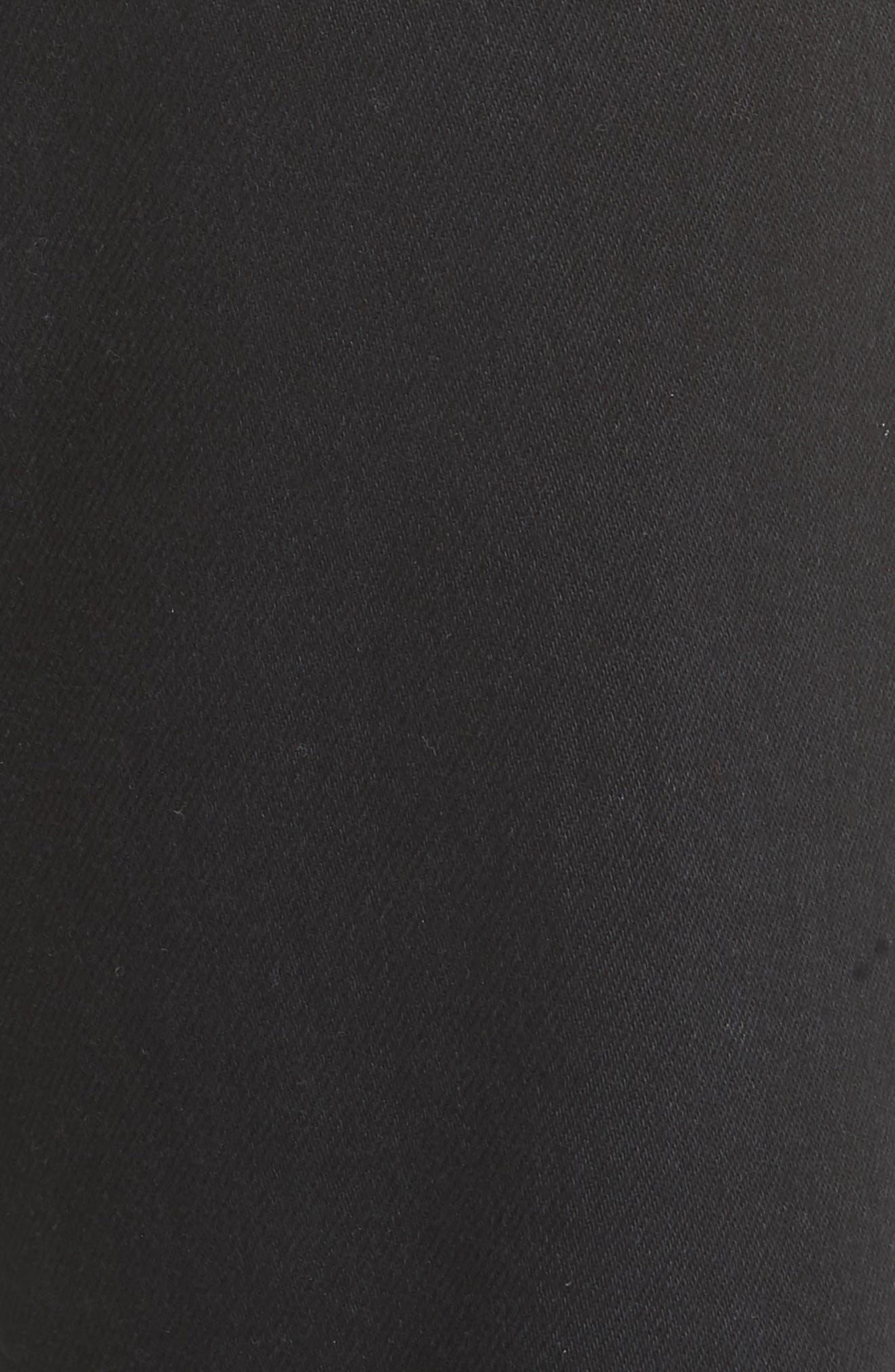 x Andy Warhol Foundation Dennis Hopper Straight Leg Jeans,                             Alternate thumbnail 5, color,                             BLACK