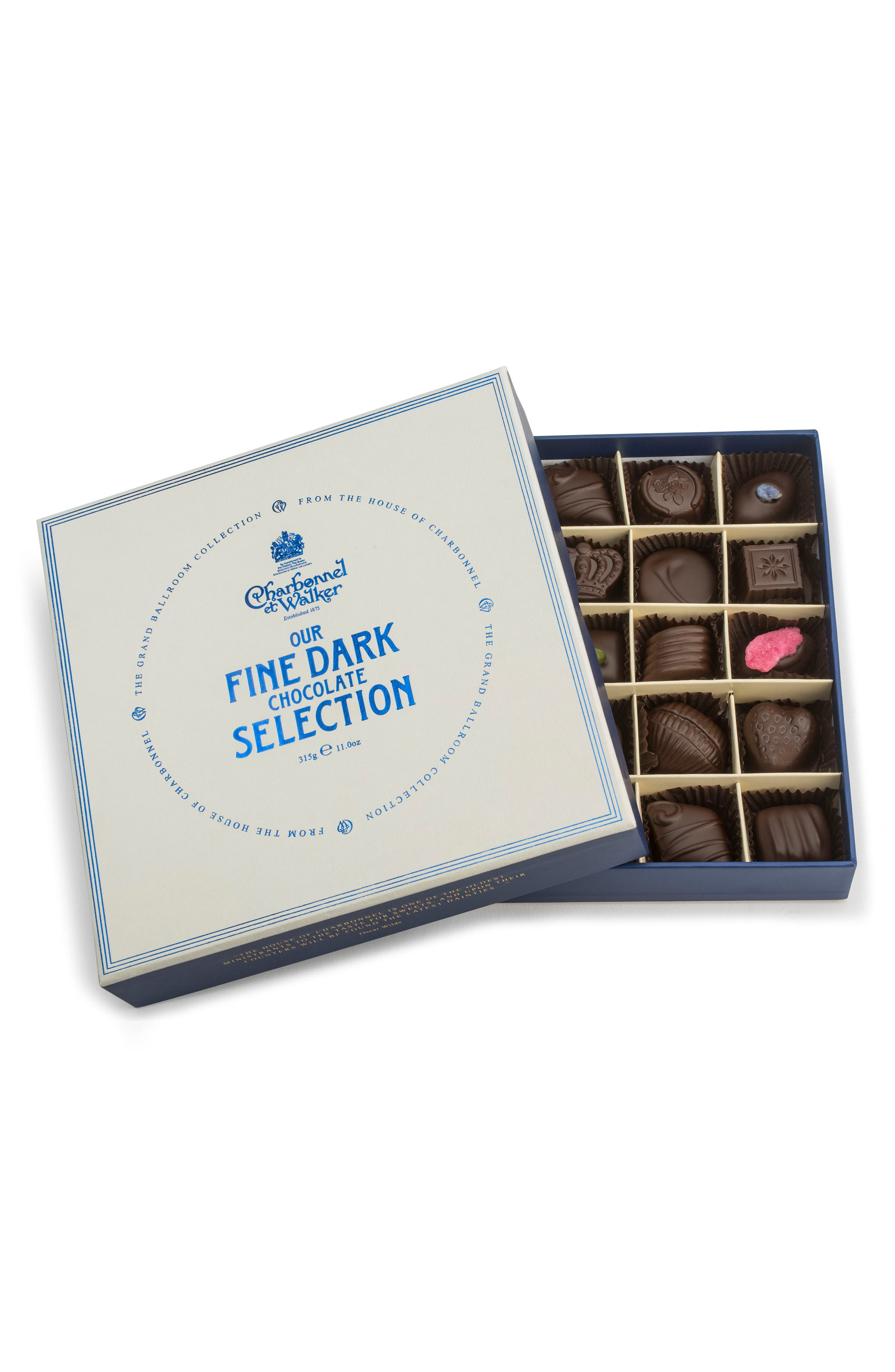 Fine Chocolate Selection in Gift Box,                             Main thumbnail 1, color,                             DARK CHOCOLATE