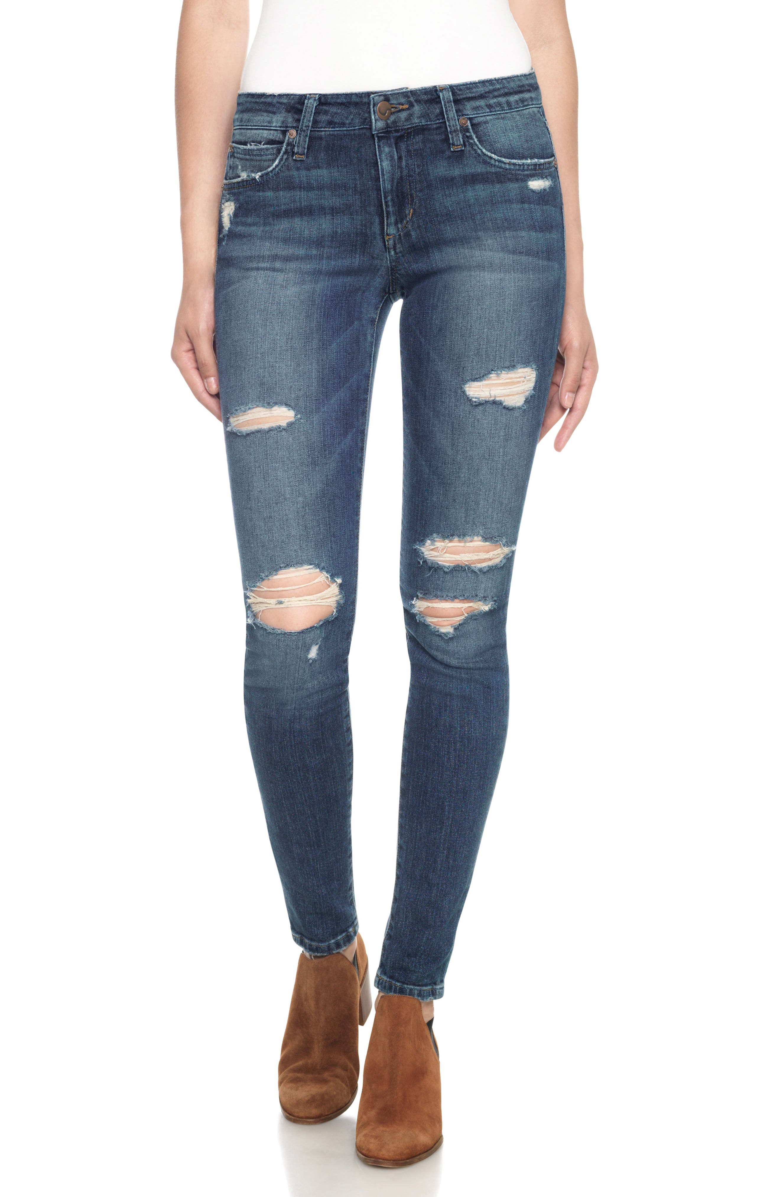 'The Icon' Skinny Jeans,                         Main,                         color, 410