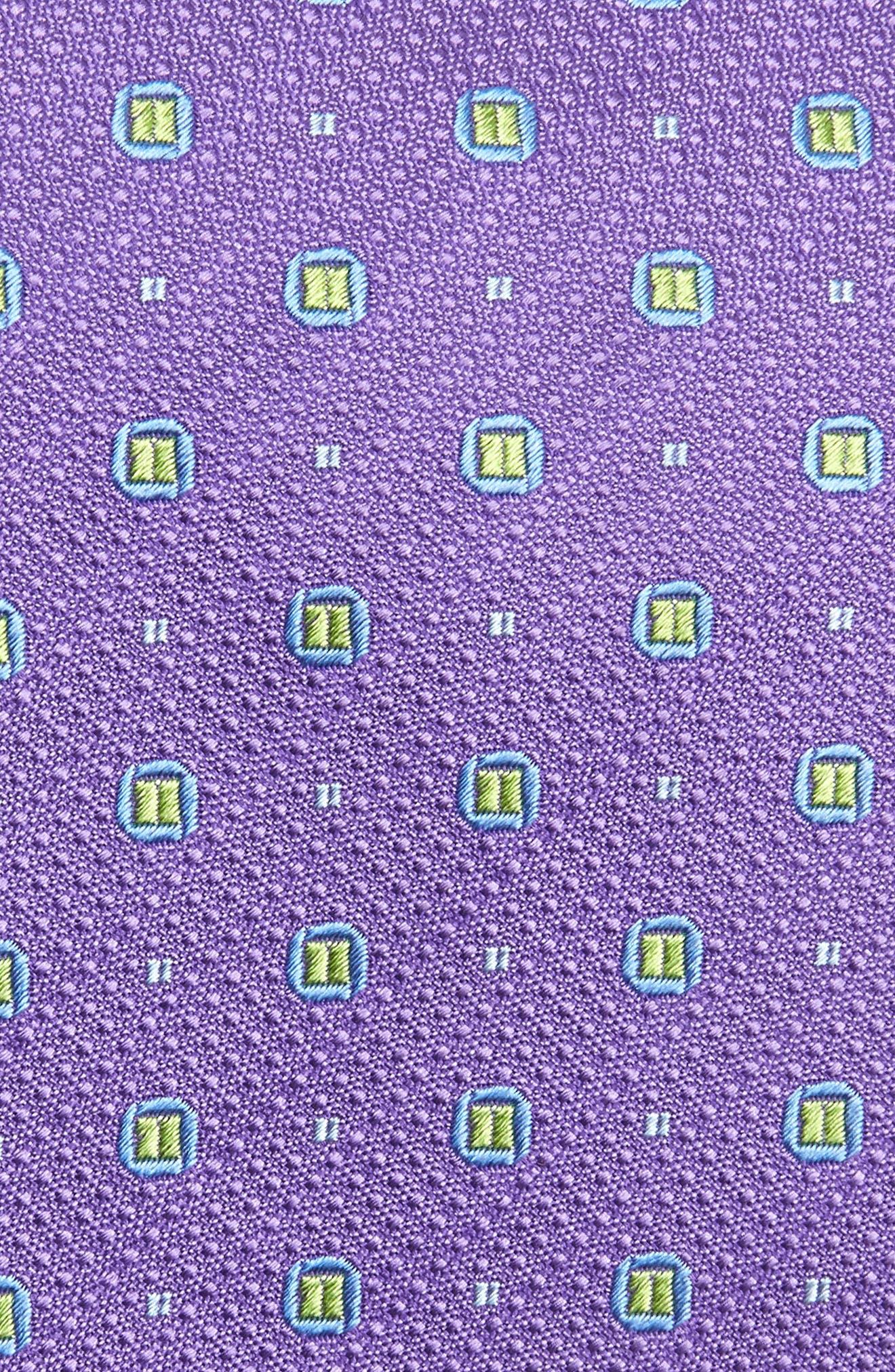 Neat Medallion Silk Tie,                             Alternate thumbnail 2, color,                             500