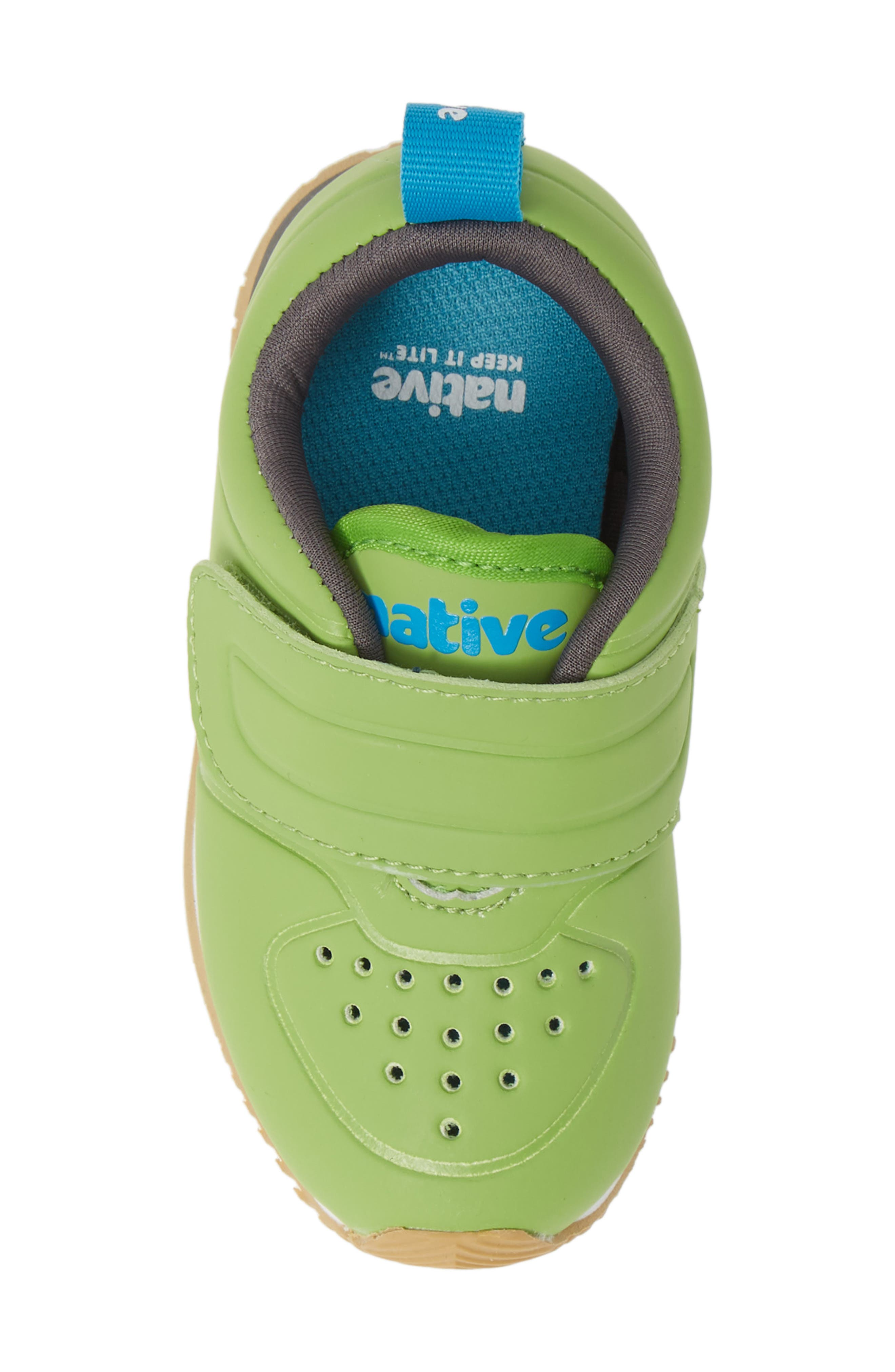 Cornell Perforated Colorblock Sneaker,                             Alternate thumbnail 5, color,                             SPRING GREEN/ WHITE/ GREY