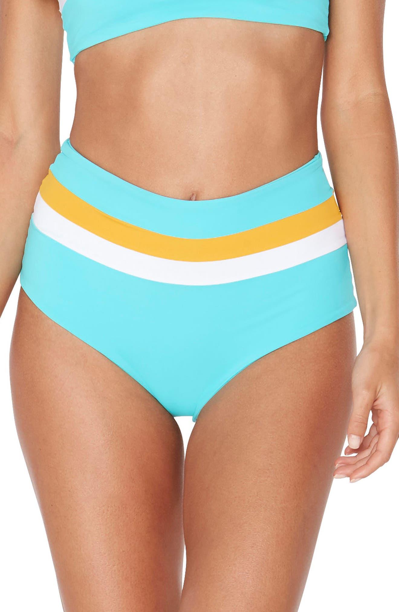 Portia Reversible Colorblock Bikini Bottoms,                             Main thumbnail 3, color,