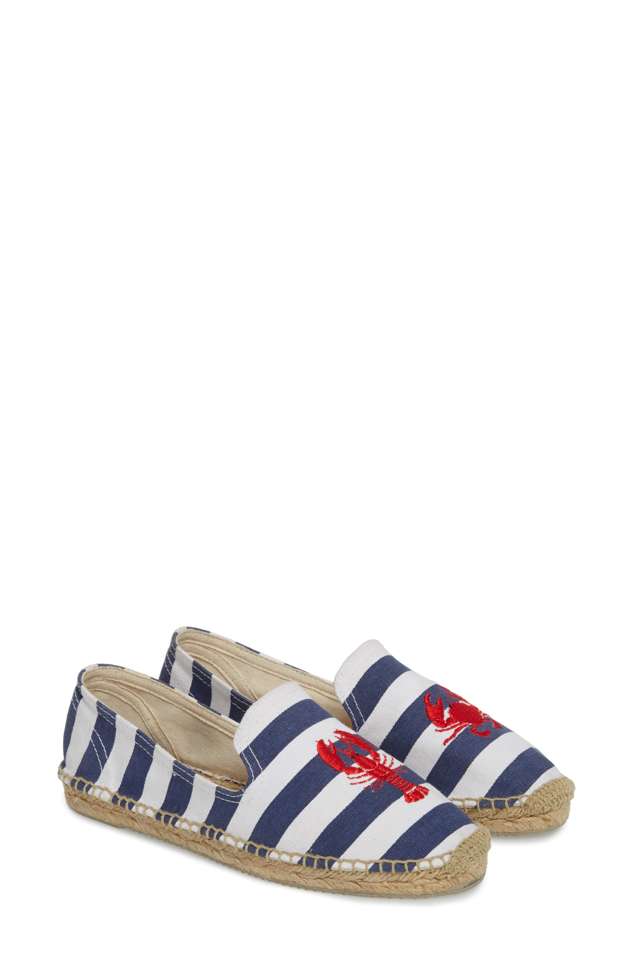 Embroidered Lobster & Crab Espadrille Flat,                             Alternate thumbnail 2, color,                             415