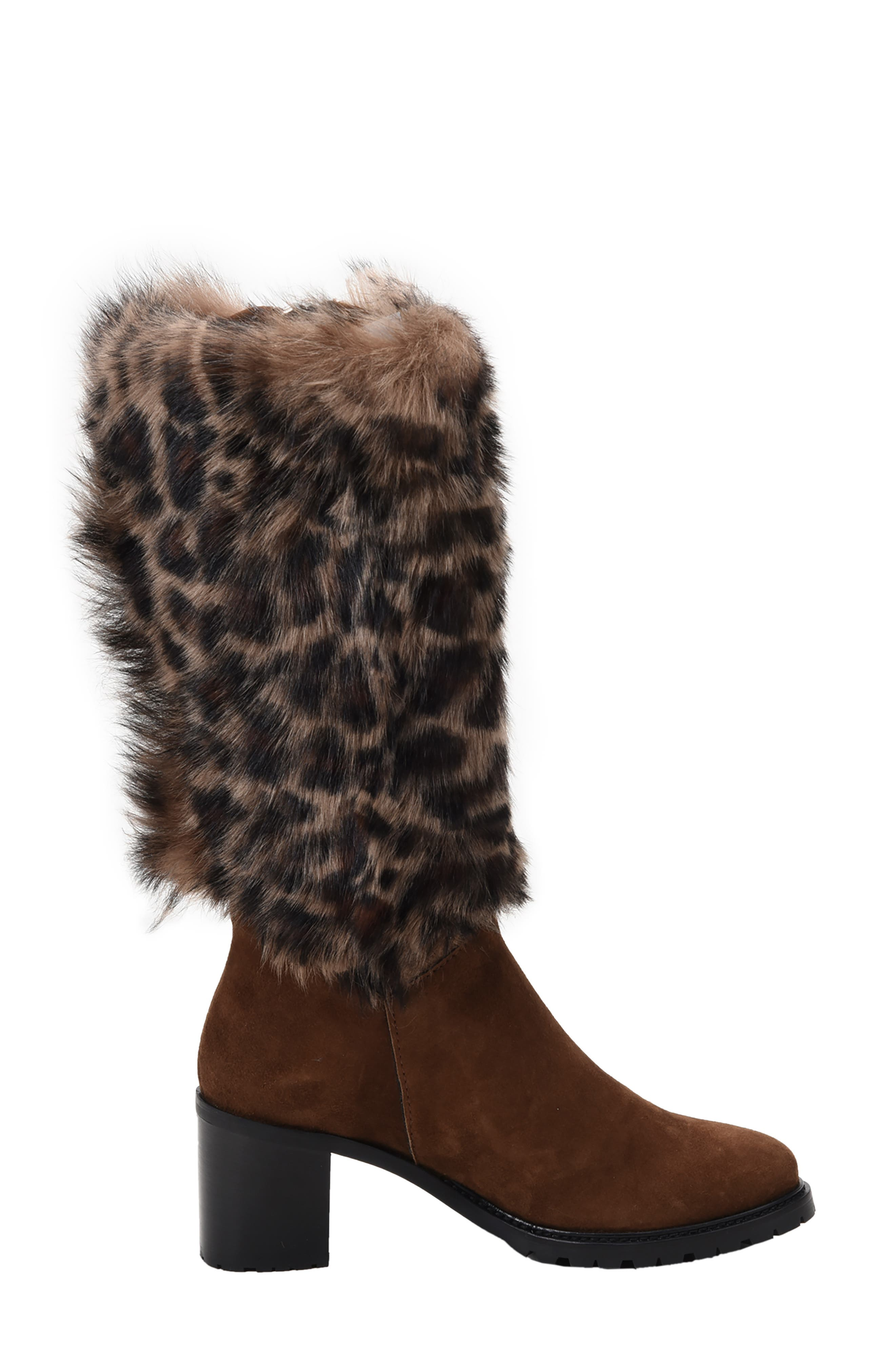 Weatherproof Genuine Shearling Boot,                             Alternate thumbnail 2, color,                             LEOPARD LEATHER