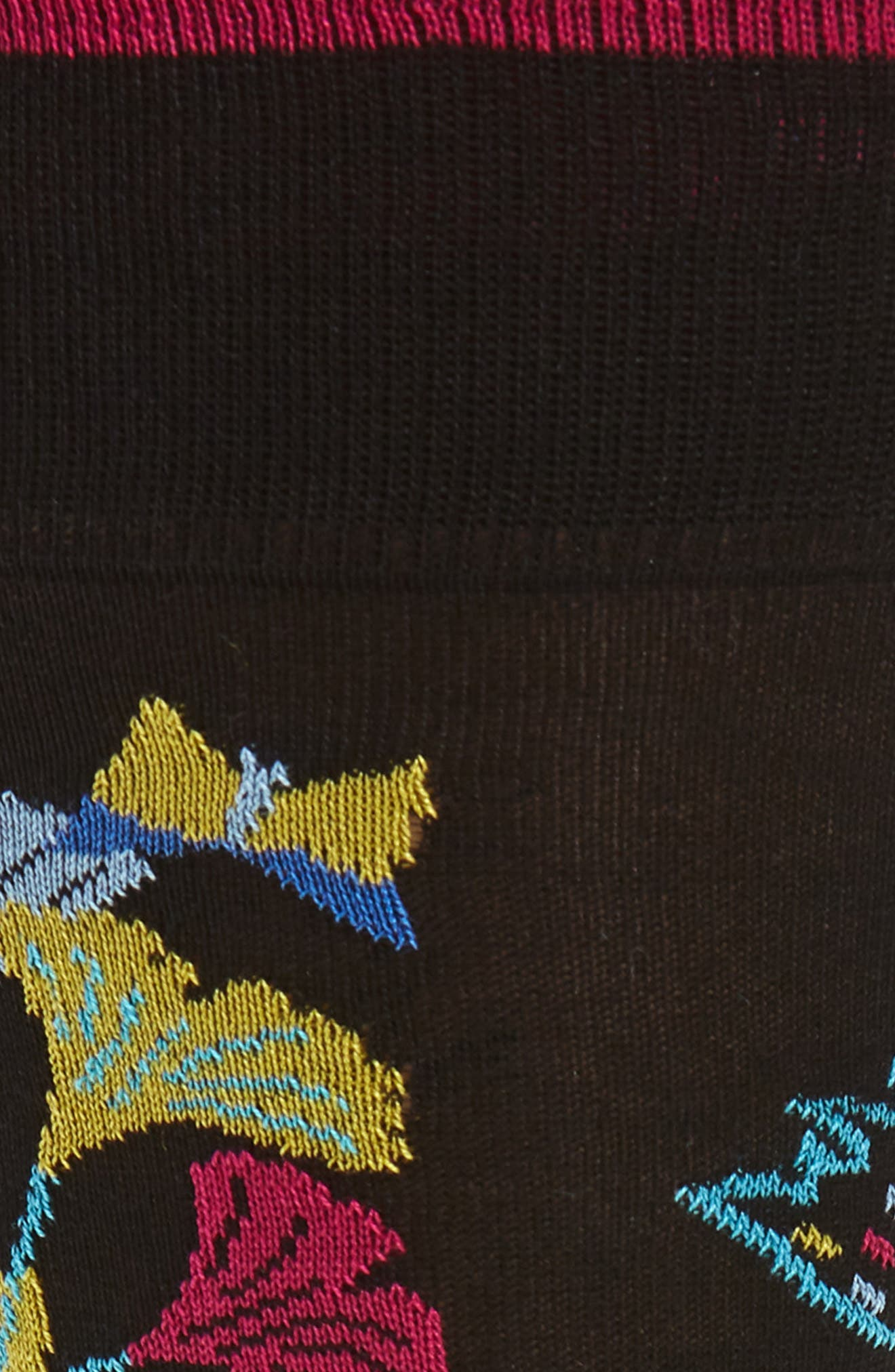 Cotton Blend Socks,                             Alternate thumbnail 2, color,                             001