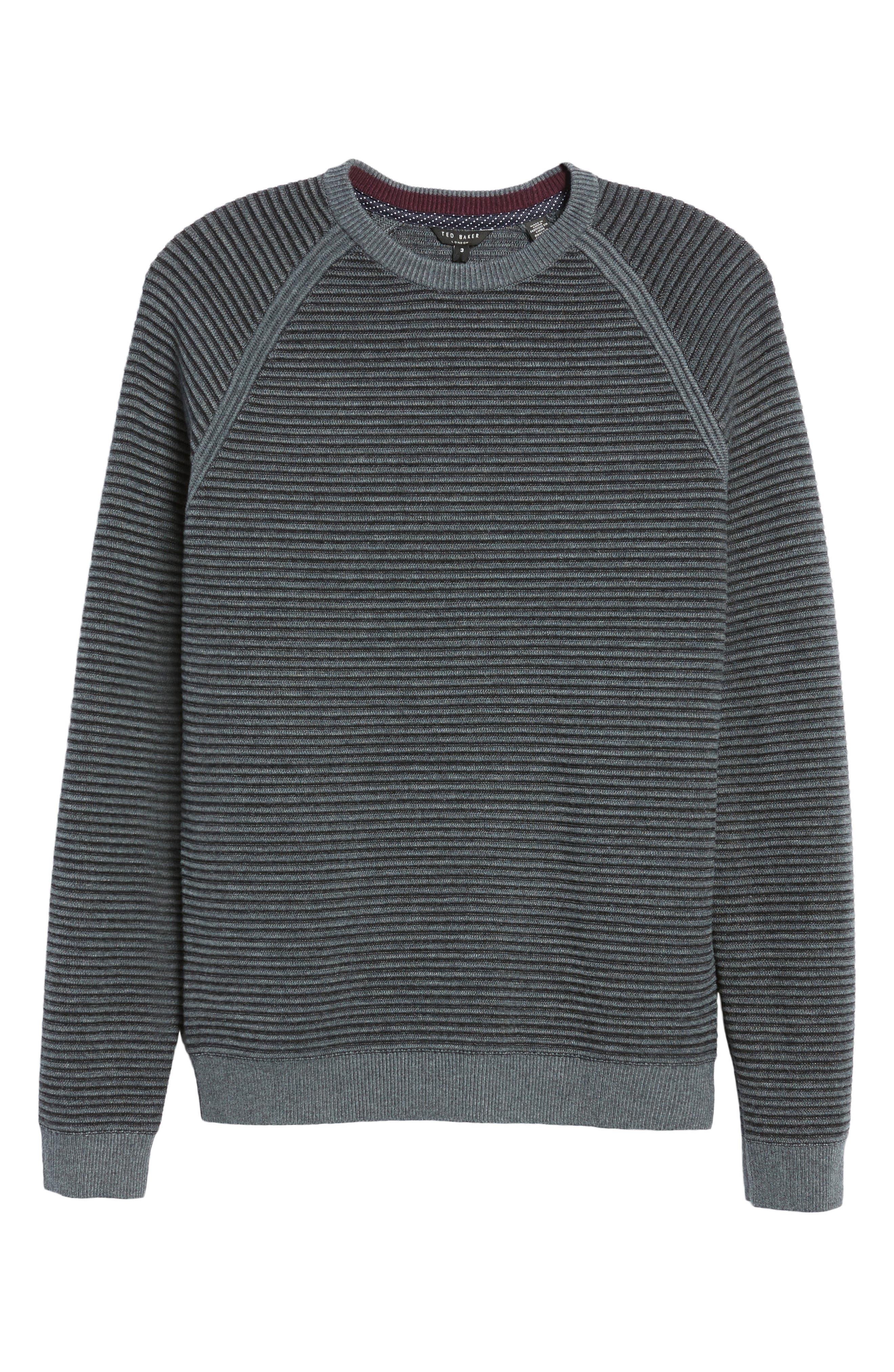 Cashoo Slim Fit Ribbed Sweatshirt,                             Alternate thumbnail 6, color,                             030