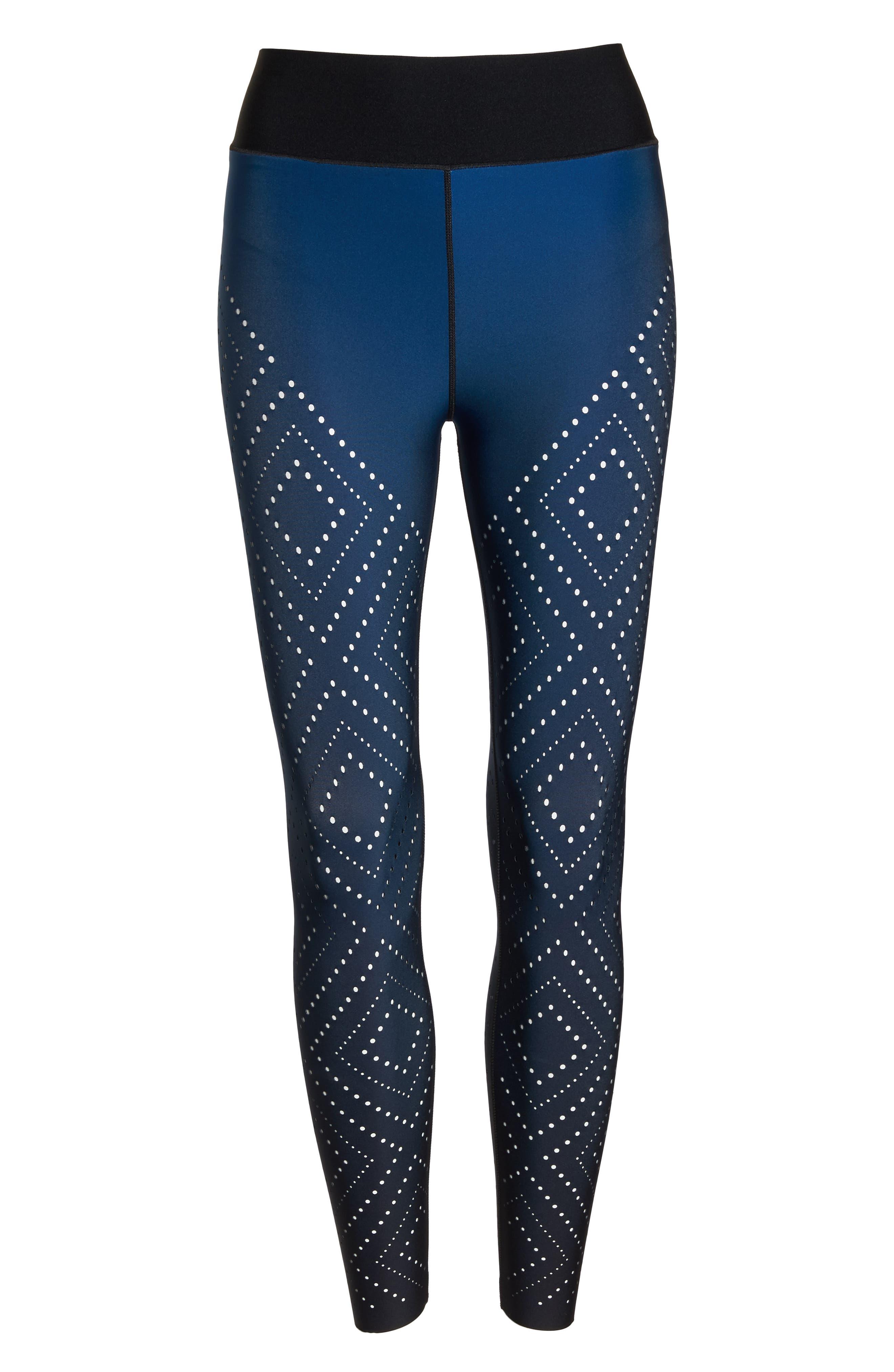 Sprinter High Argyle Pixelate Leggings,                             Alternate thumbnail 7, color,                             GRADIENT SAPPHIRE