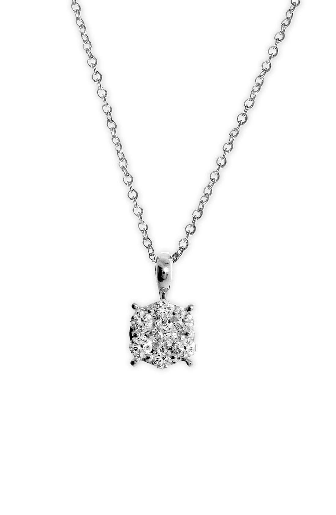 Lucky 7 Diamond Pendant Necklace,                         Main,                         color, 711