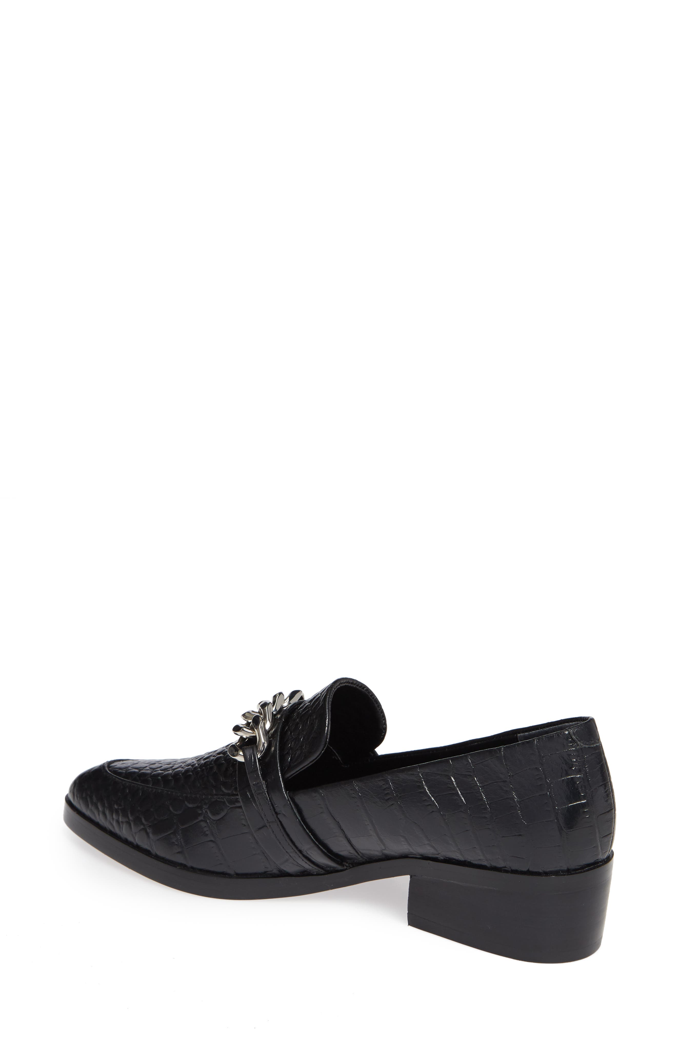 Molly Loafer,                             Alternate thumbnail 2, color,                             BLACK CROC LEATHER