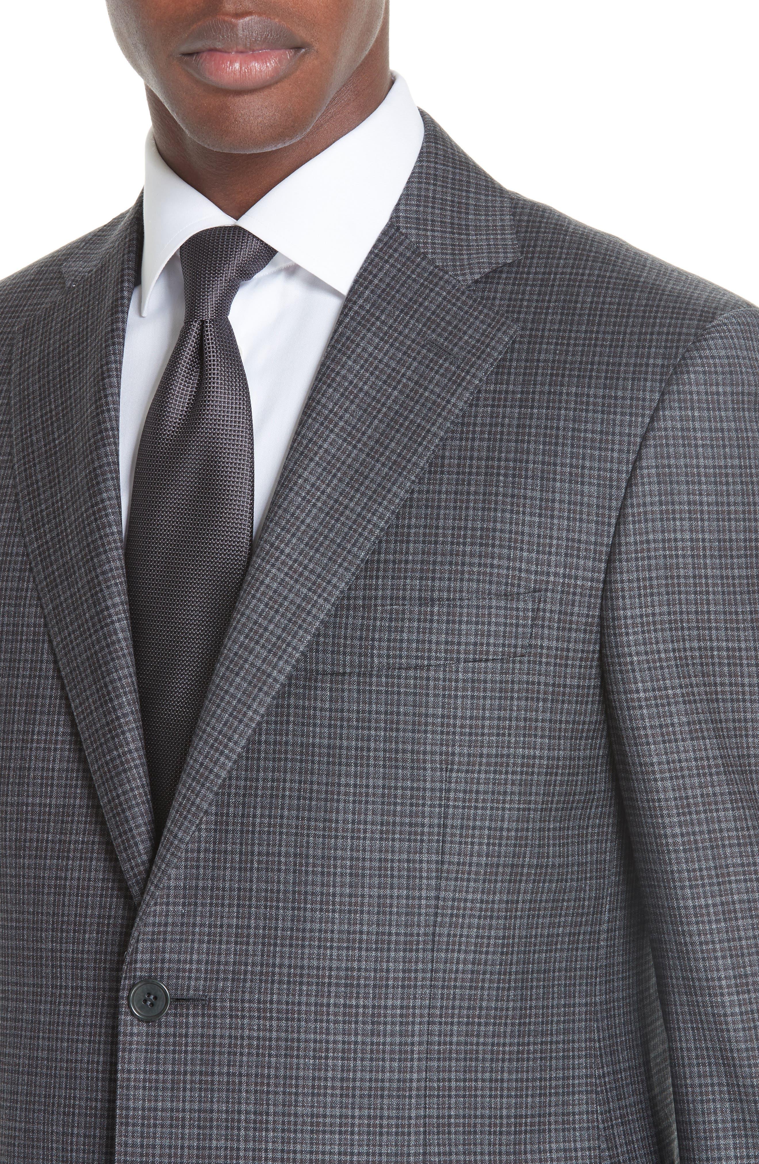 Classic Fit Check Wool Sport Coat,                             Alternate thumbnail 4, color,                             DARK GREY