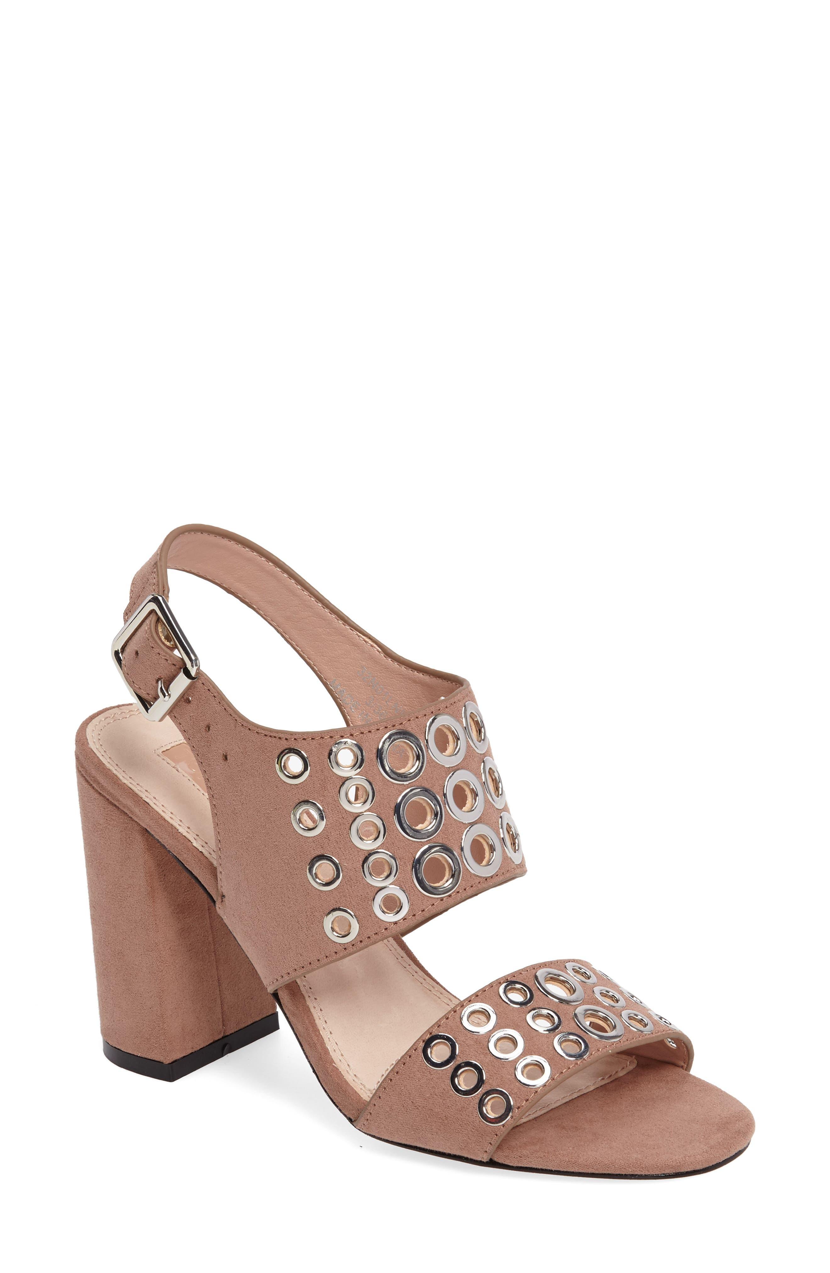 Nadia Rivet Block Heel Sandal,                             Main thumbnail 2, color,