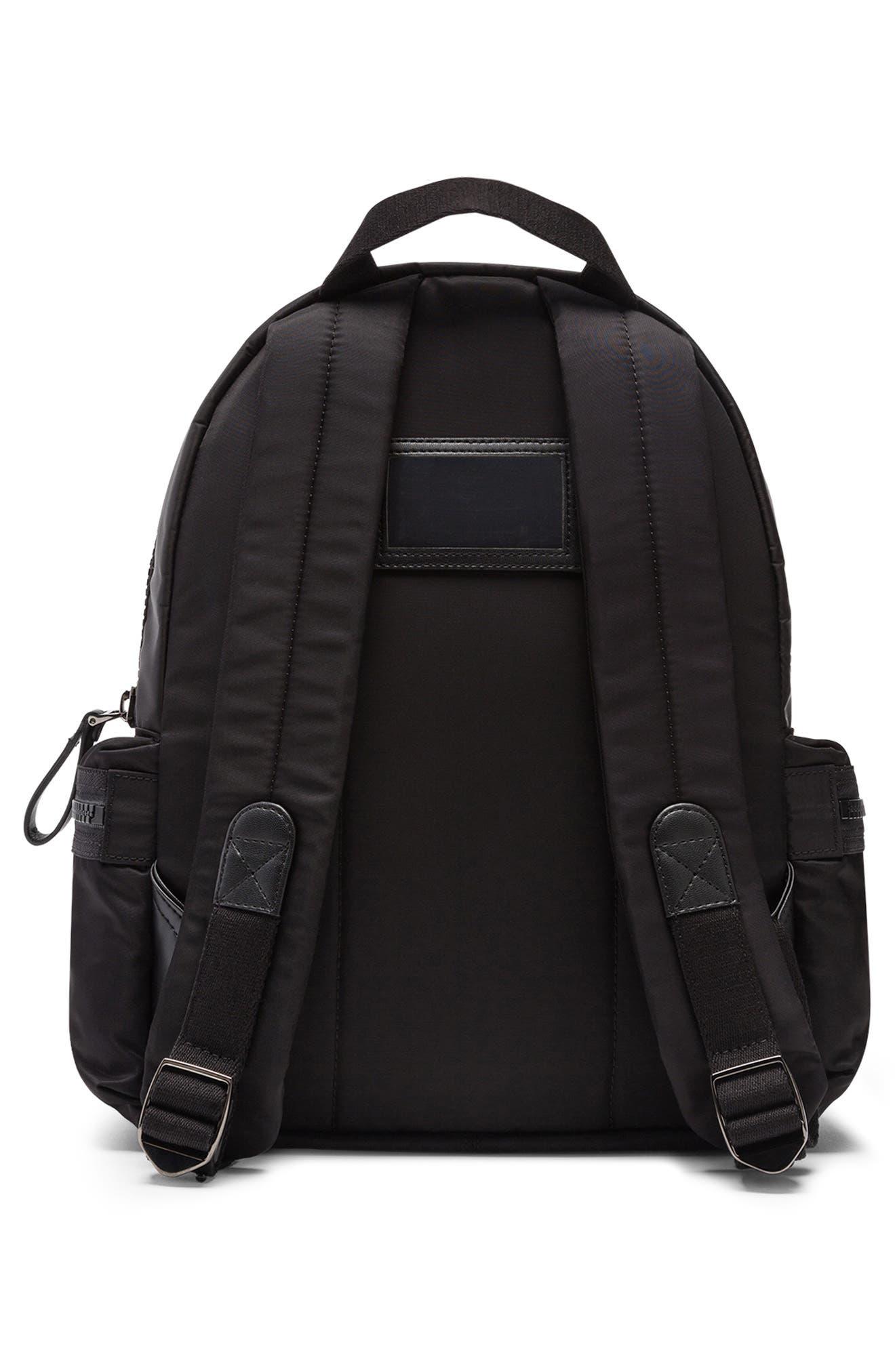 Zaino Nylon Backpack,                             Alternate thumbnail 2, color,                             NERO/ NERO