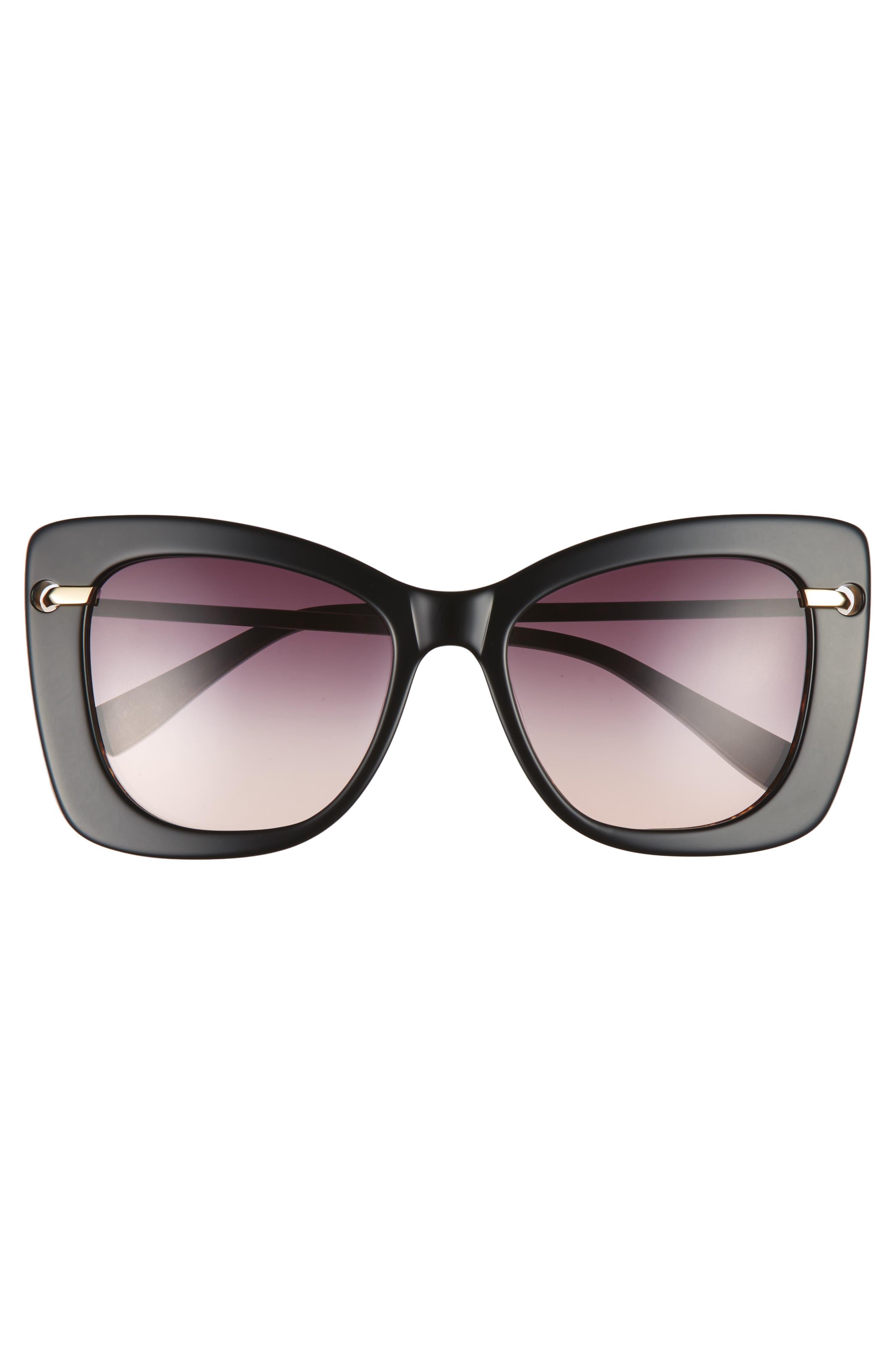 DEREK LAM,                             Clara 55mm Gradient Sunglasses,                             Alternate thumbnail 3, color,                             001