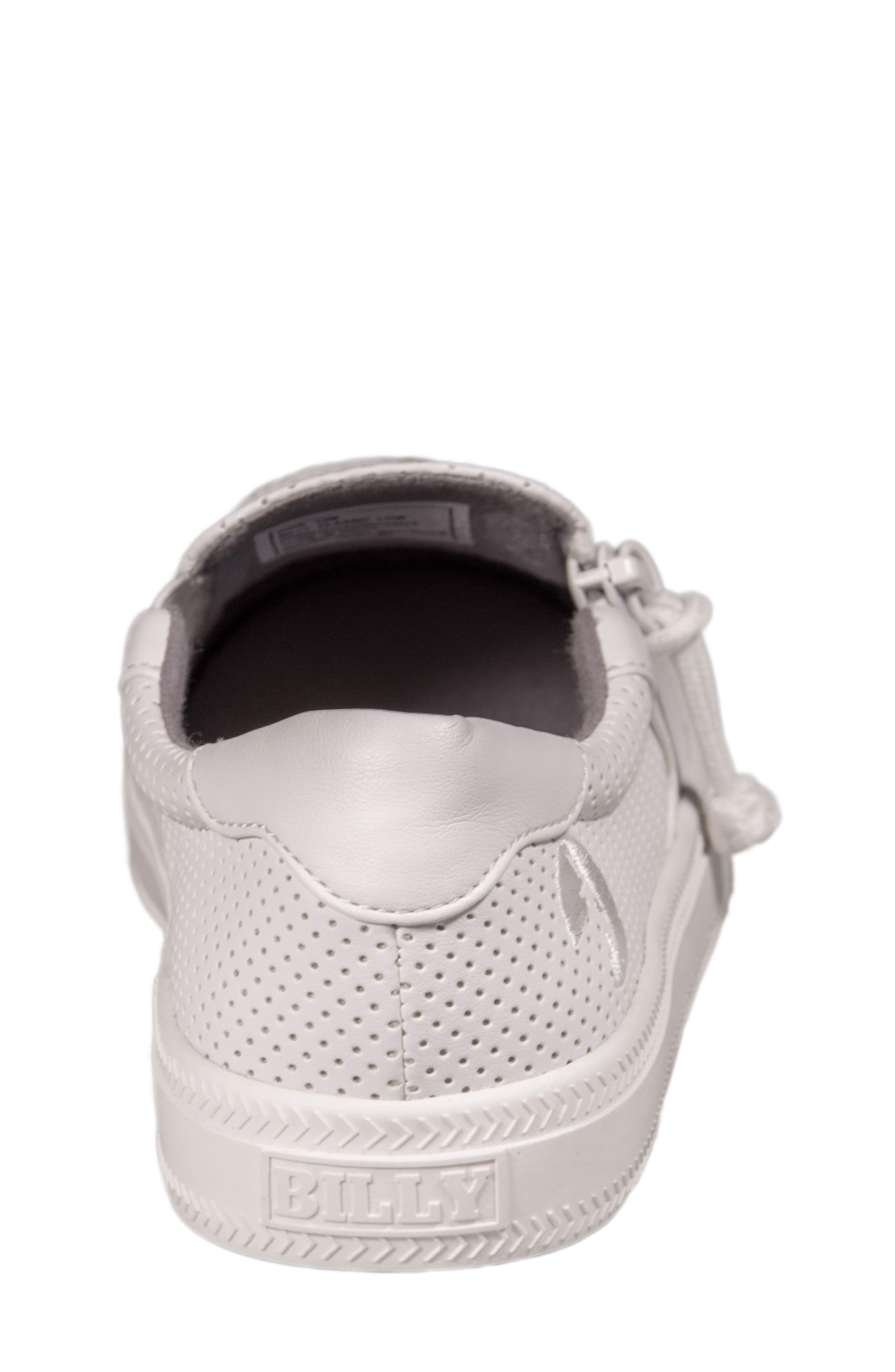 Zip Around Perforated Low Top Sneaker,                             Alternate thumbnail 14, color,