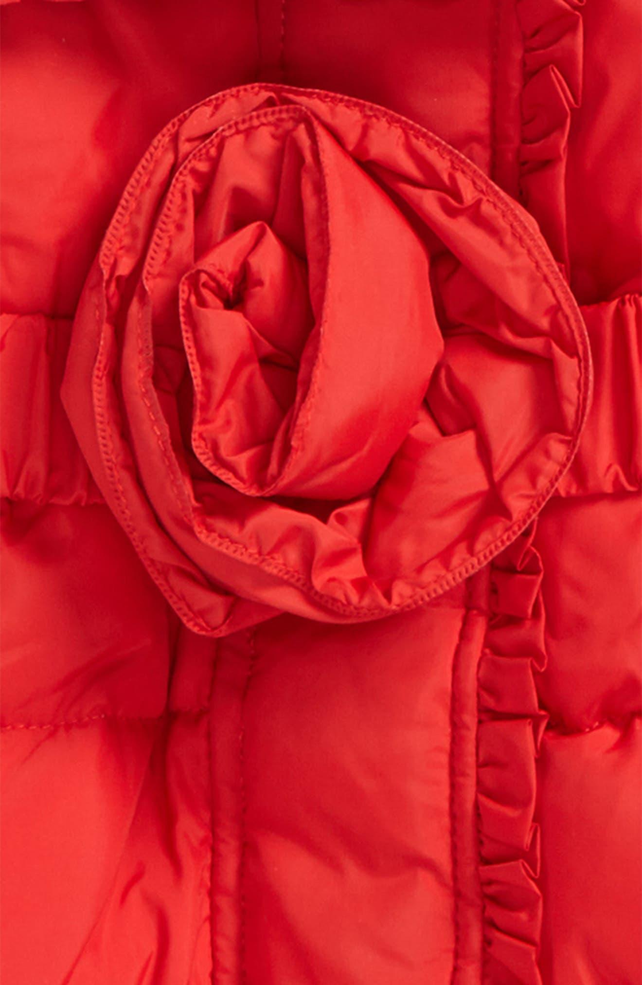 rosette puffer jacket,                             Alternate thumbnail 2, color,