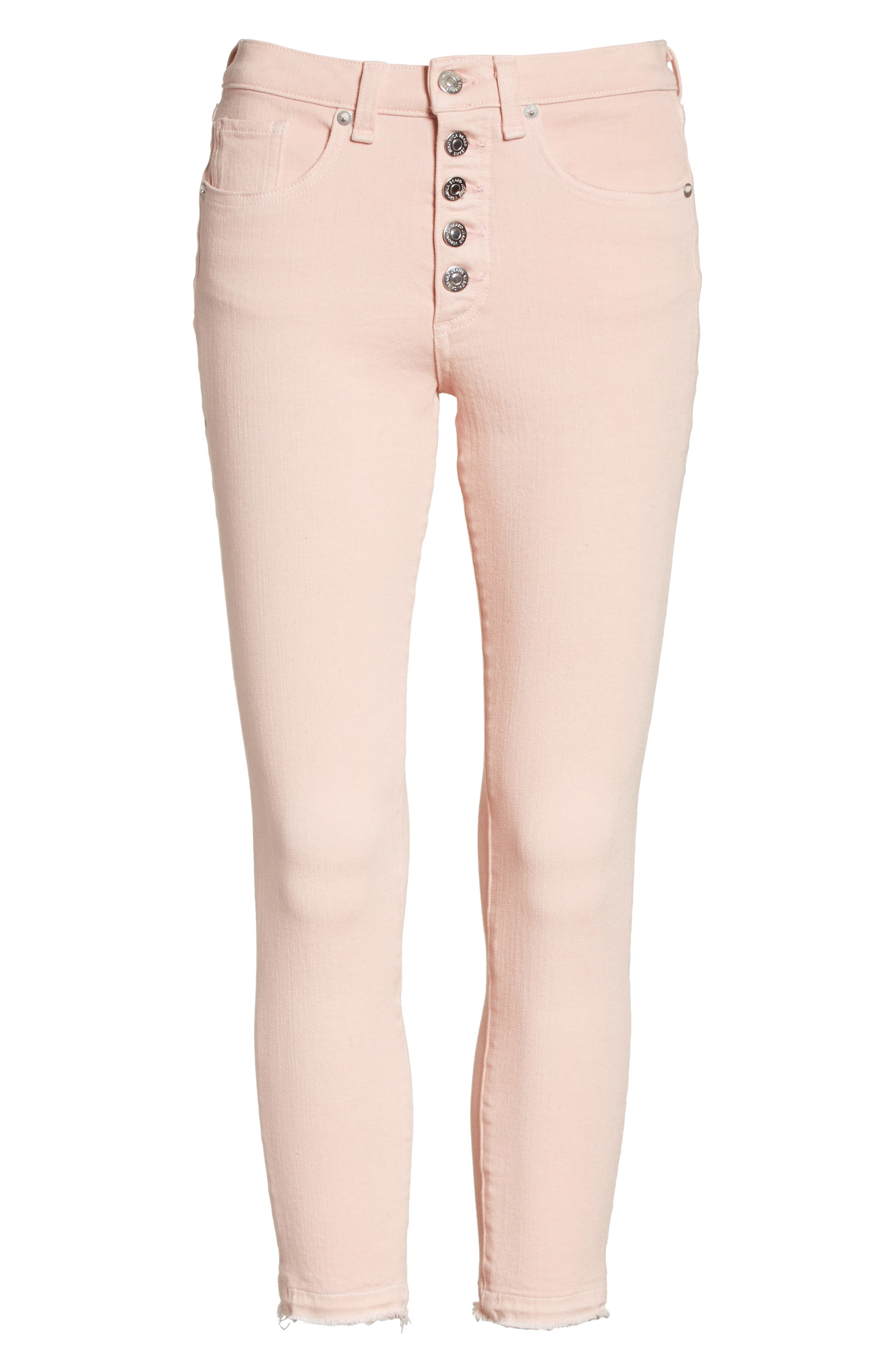 Debbie Frayed Crop Skinny Jeans,                             Alternate thumbnail 24, color,