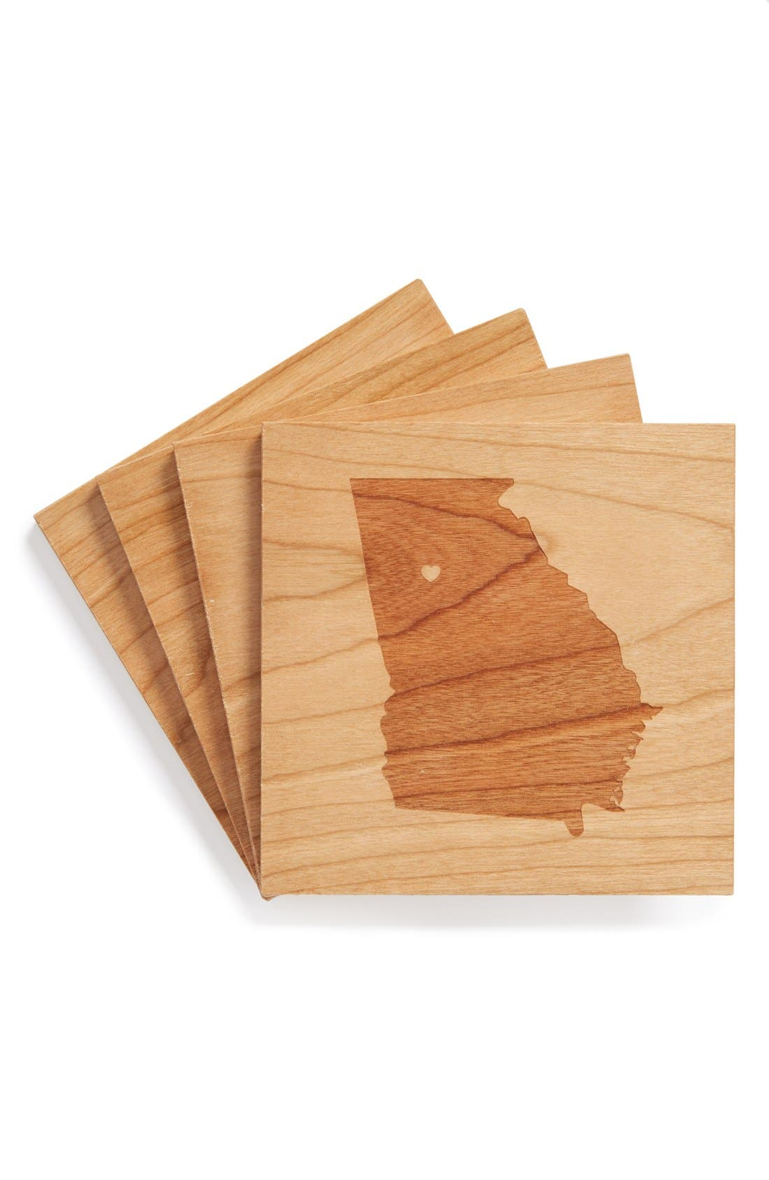 'State Silhouette' Coasters,                             Main thumbnail 42, color,