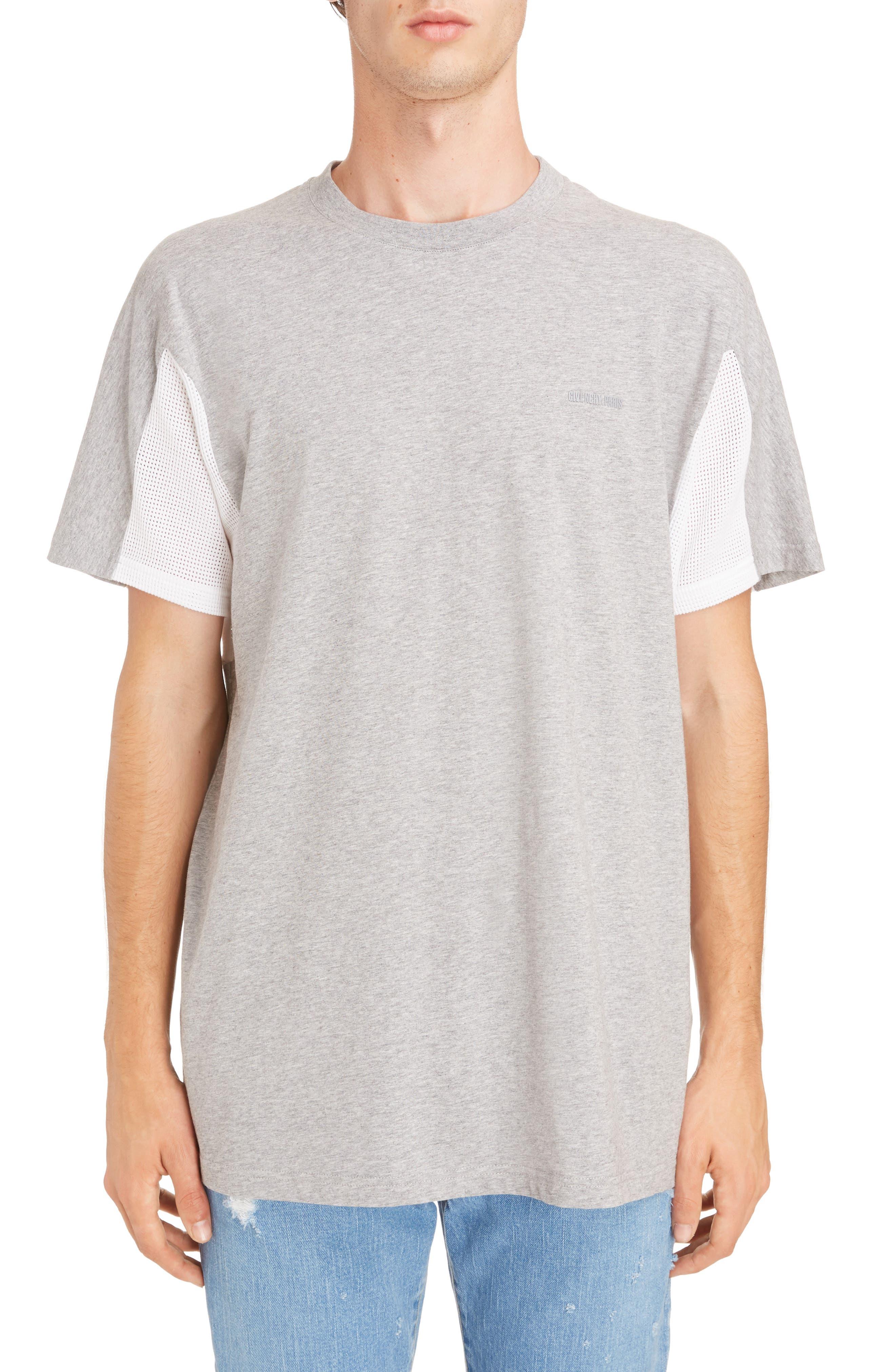 Mesh Jersey Crewneck T-Shirt,                         Main,                         color,