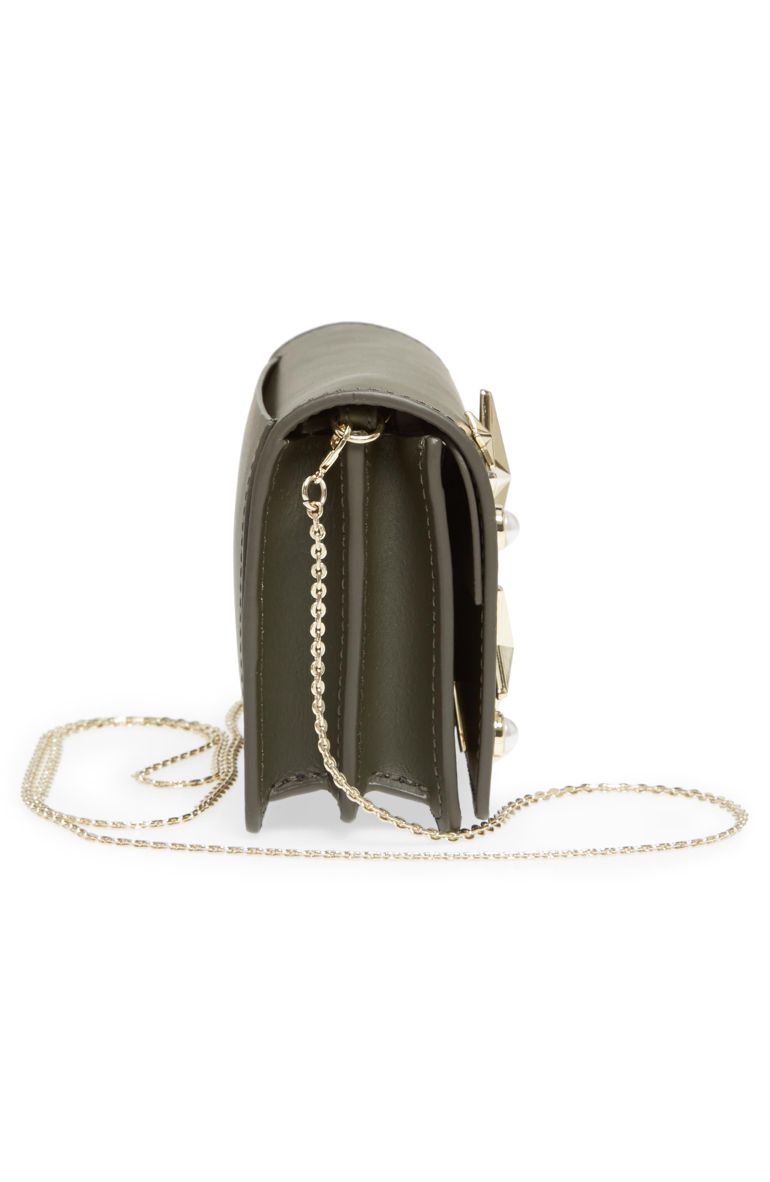 ZAC Zac Posen Earthette Leather Accordion Bag,                             Alternate thumbnail 5, color,                             300