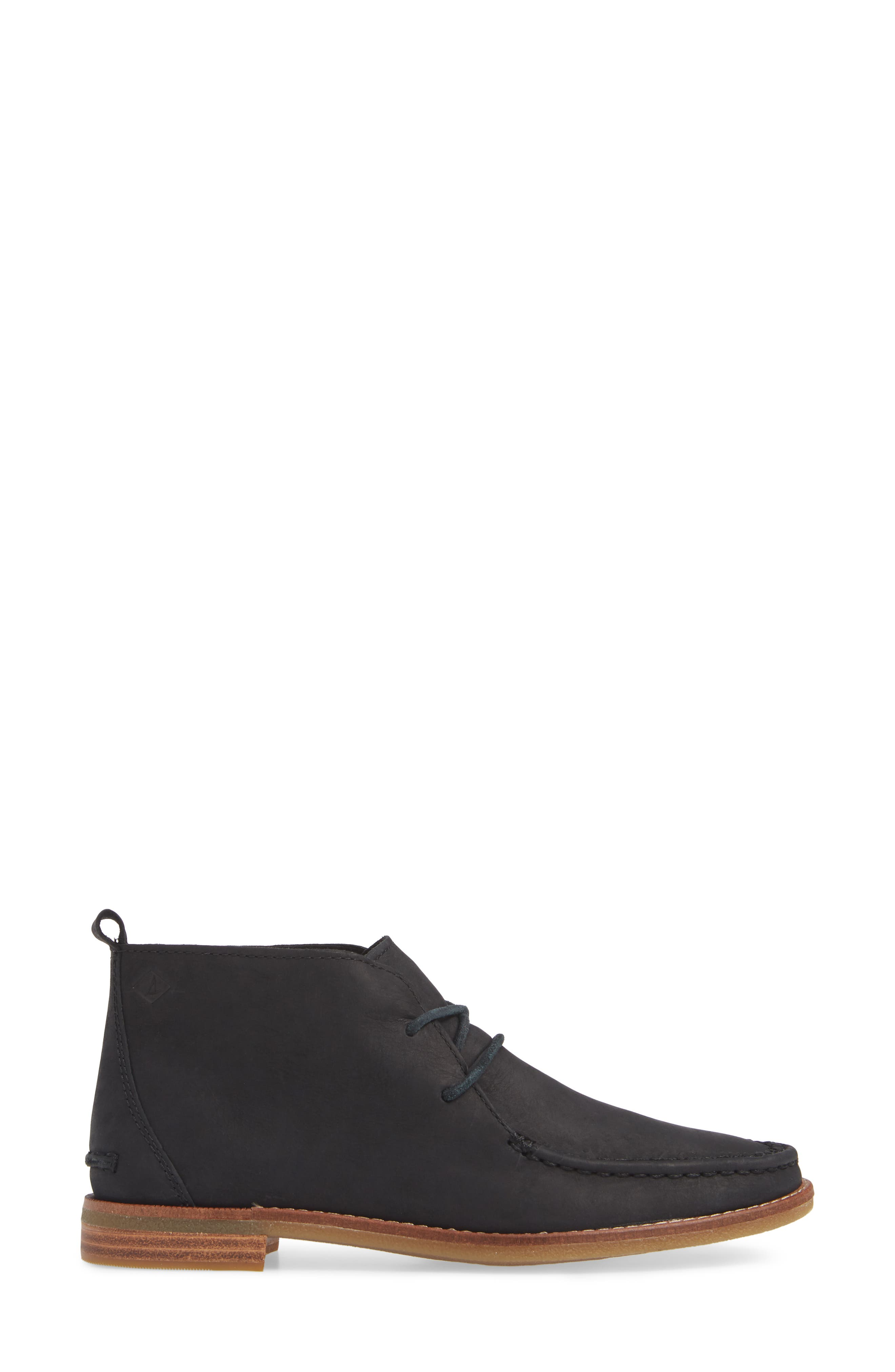 Seaport Tahoe Chukka Bootie,                             Alternate thumbnail 3, color,                             BLACK SUEDE
