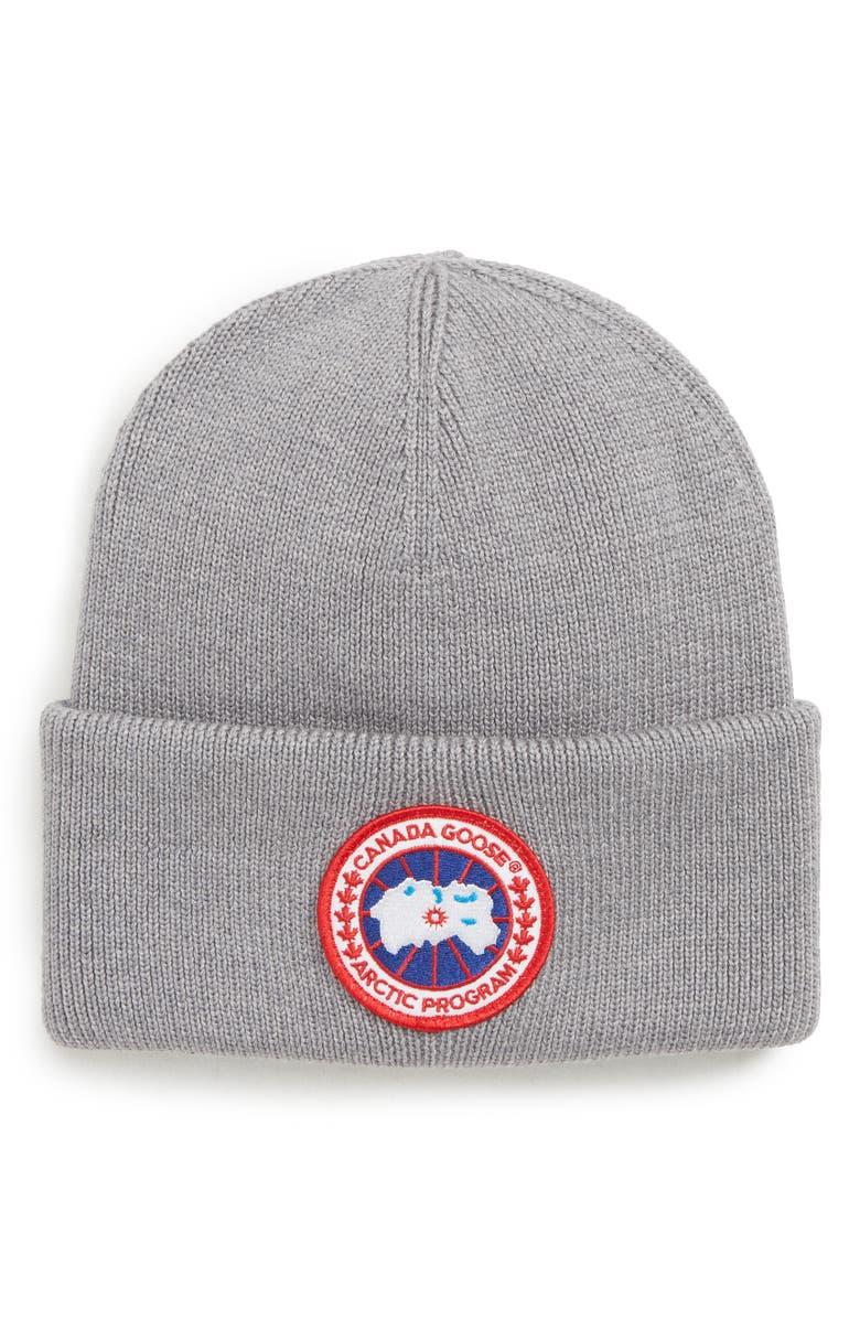 Canada Goose Arctic Disc Merino Wool Toque Beanie  8bc434441ae