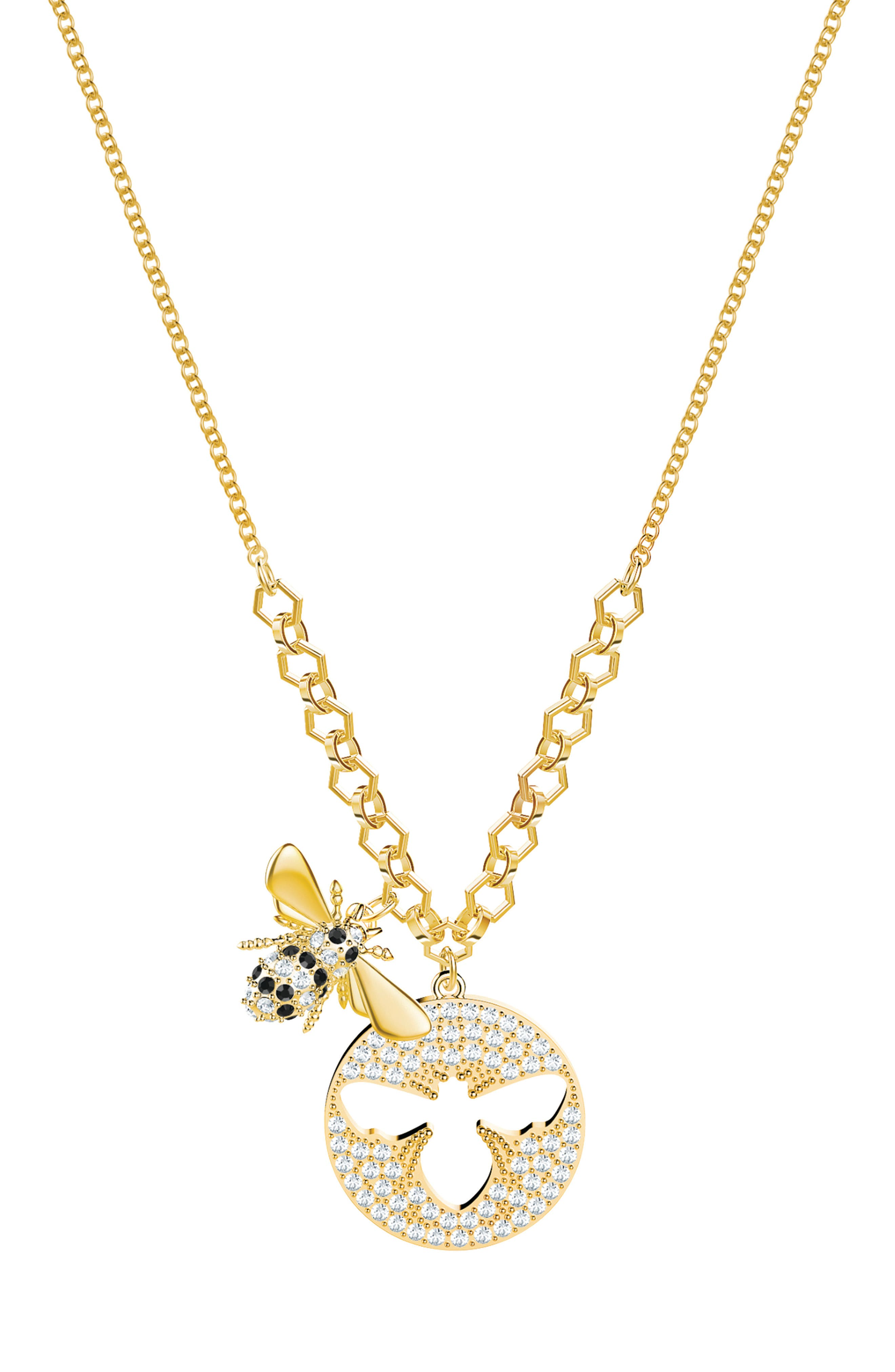Lisabel Crystal Bee Necklace,                         Main,                         color, 040