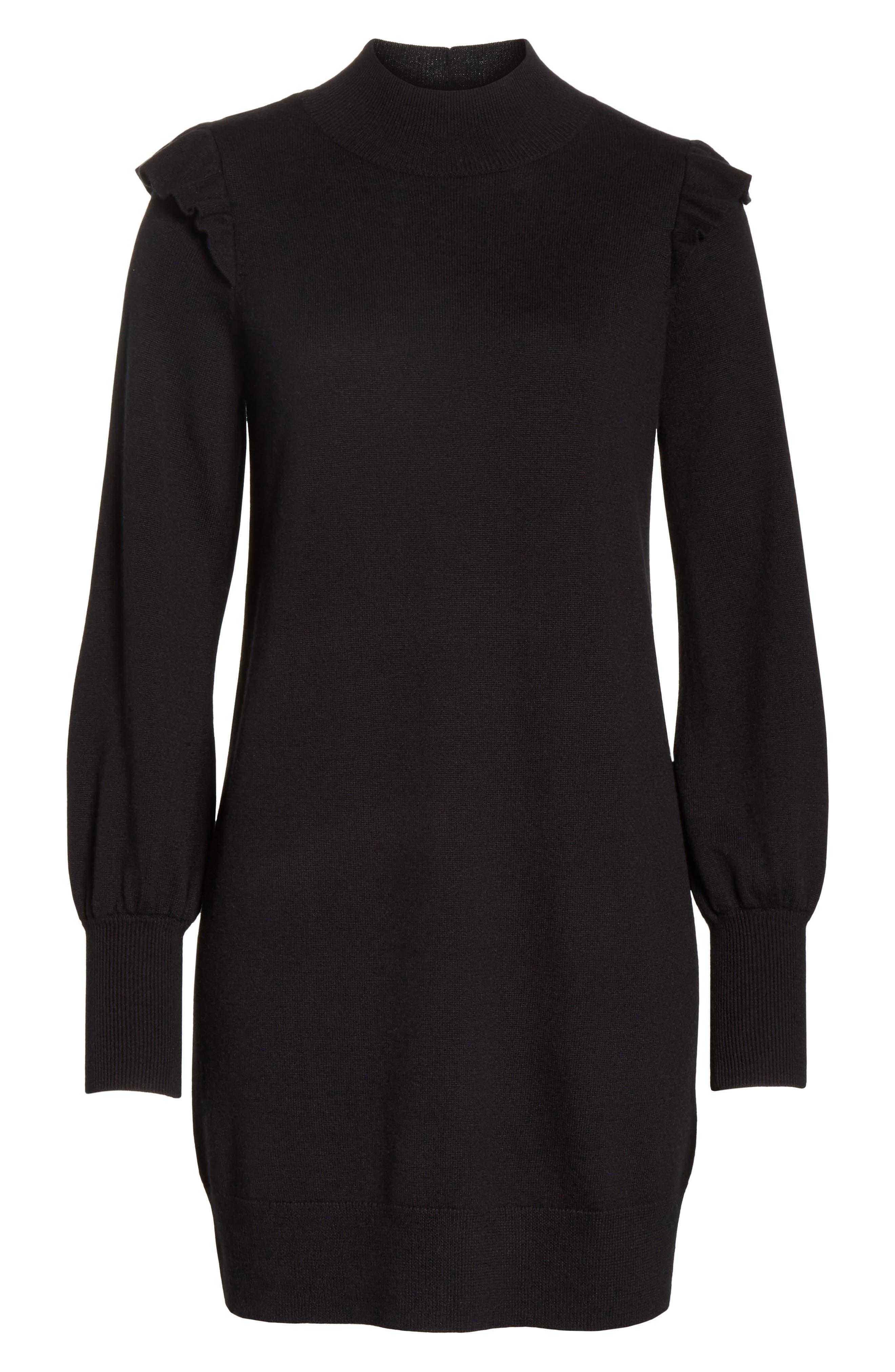 Catriona Wool & Silk Sweater Dress,                             Alternate thumbnail 6, color,                             002