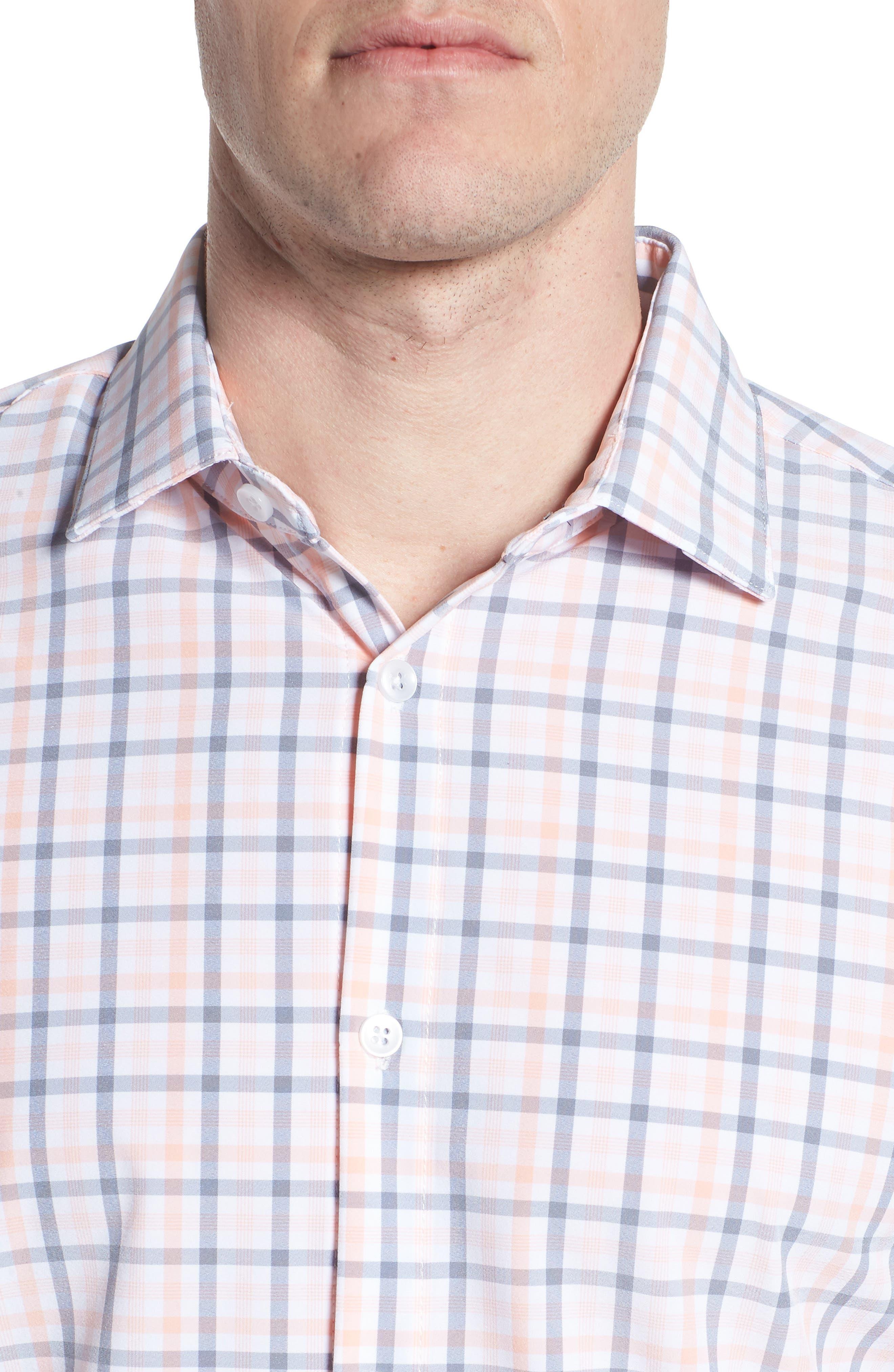 Kimble Check Sport Shirt,                             Alternate thumbnail 4, color,                             650