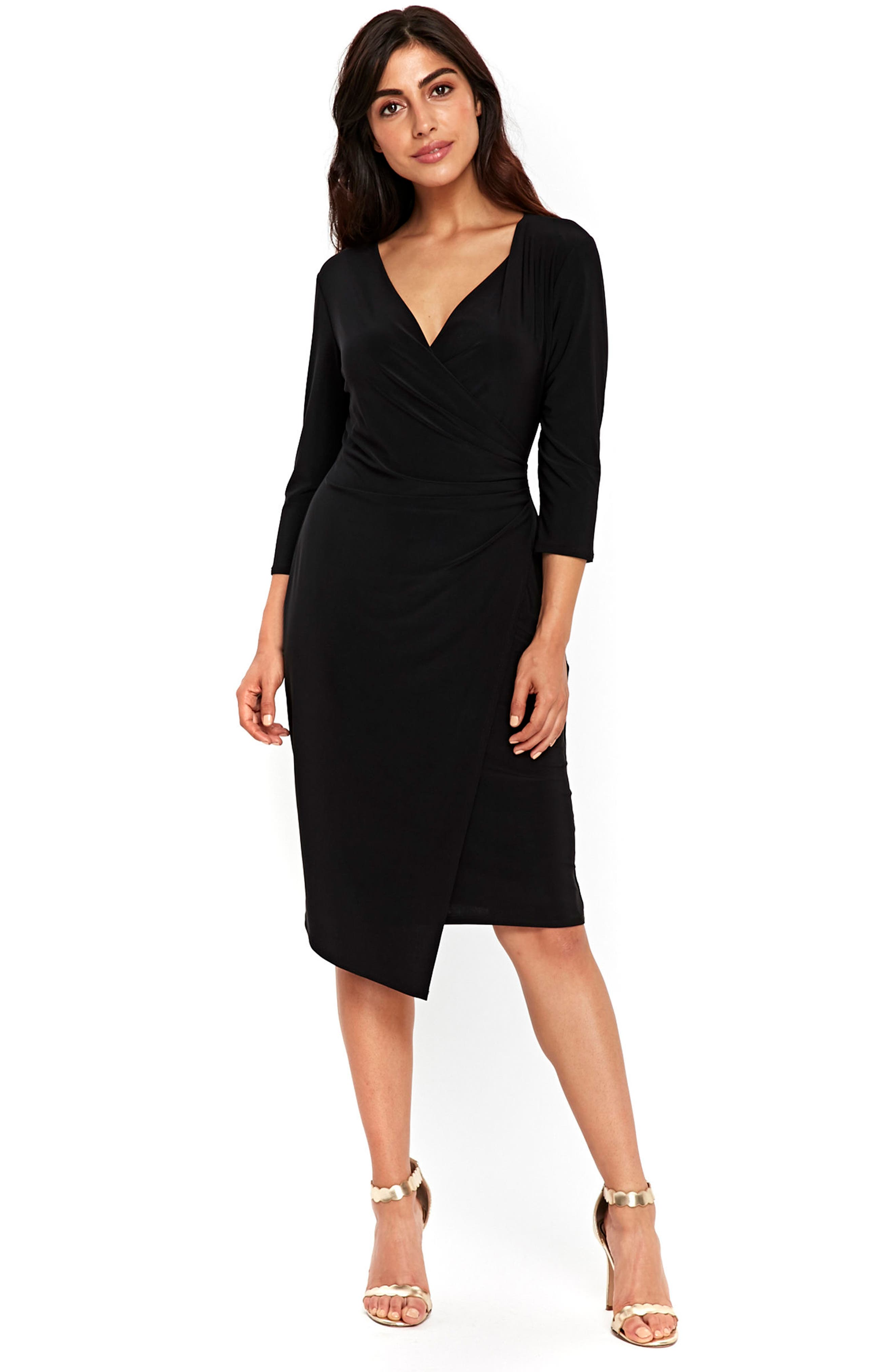 Ity Wrap Dress,                             Alternate thumbnail 5, color,                             001