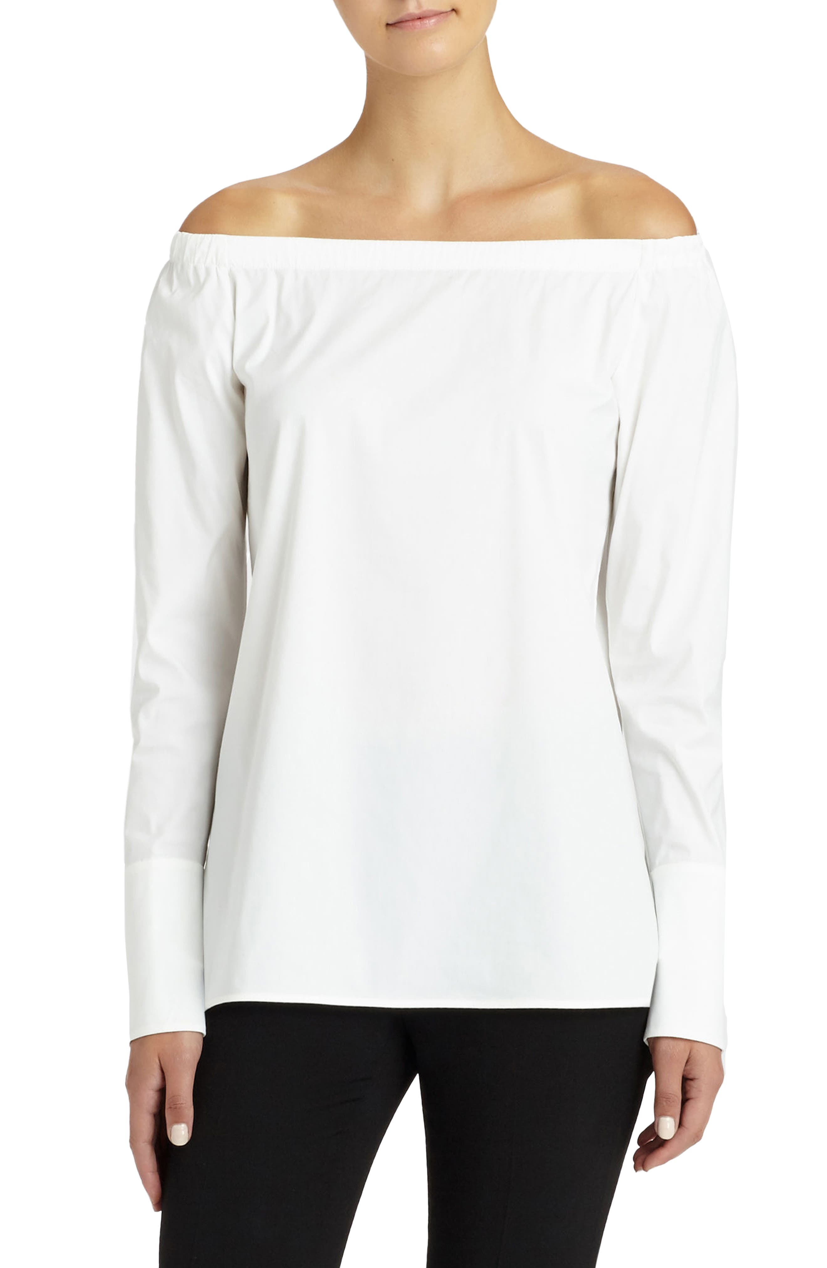 LAFAYETTE 148 NEW YORK,                             Amy Blouse,                             Main thumbnail 1, color,                             WHITE