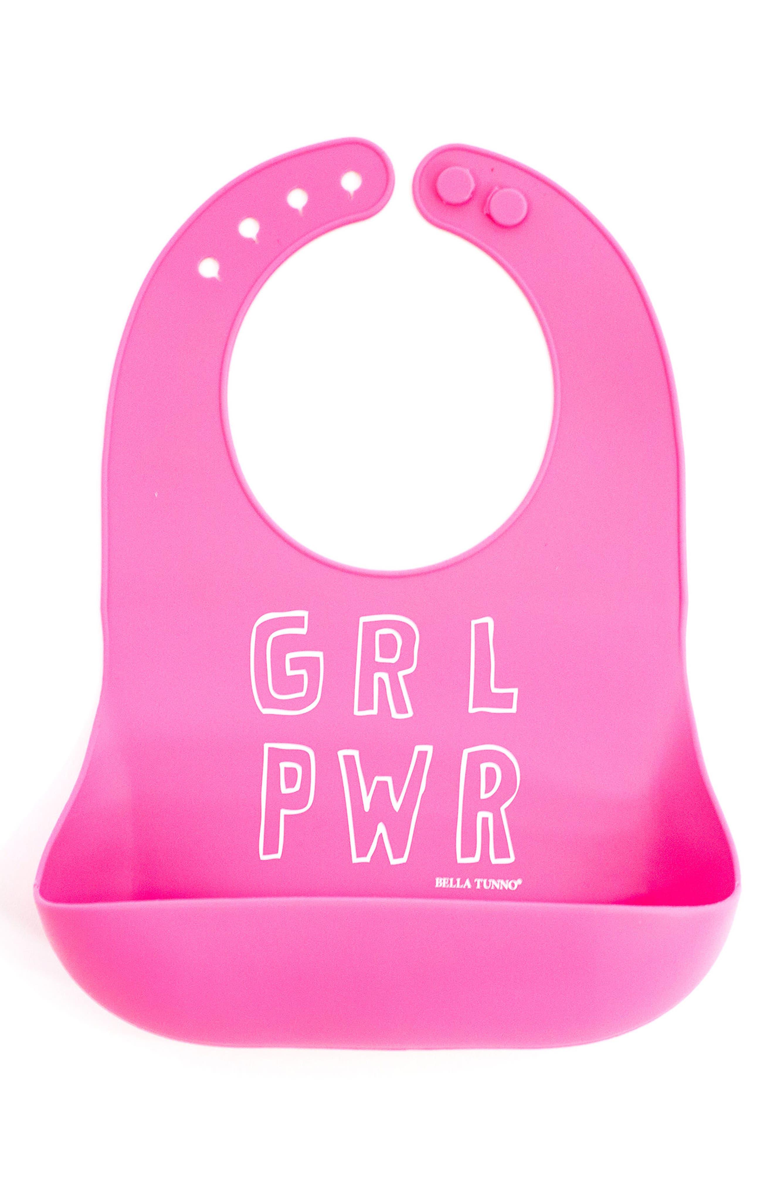 Girl Power Wonder Bib,                         Main,                         color, PINK