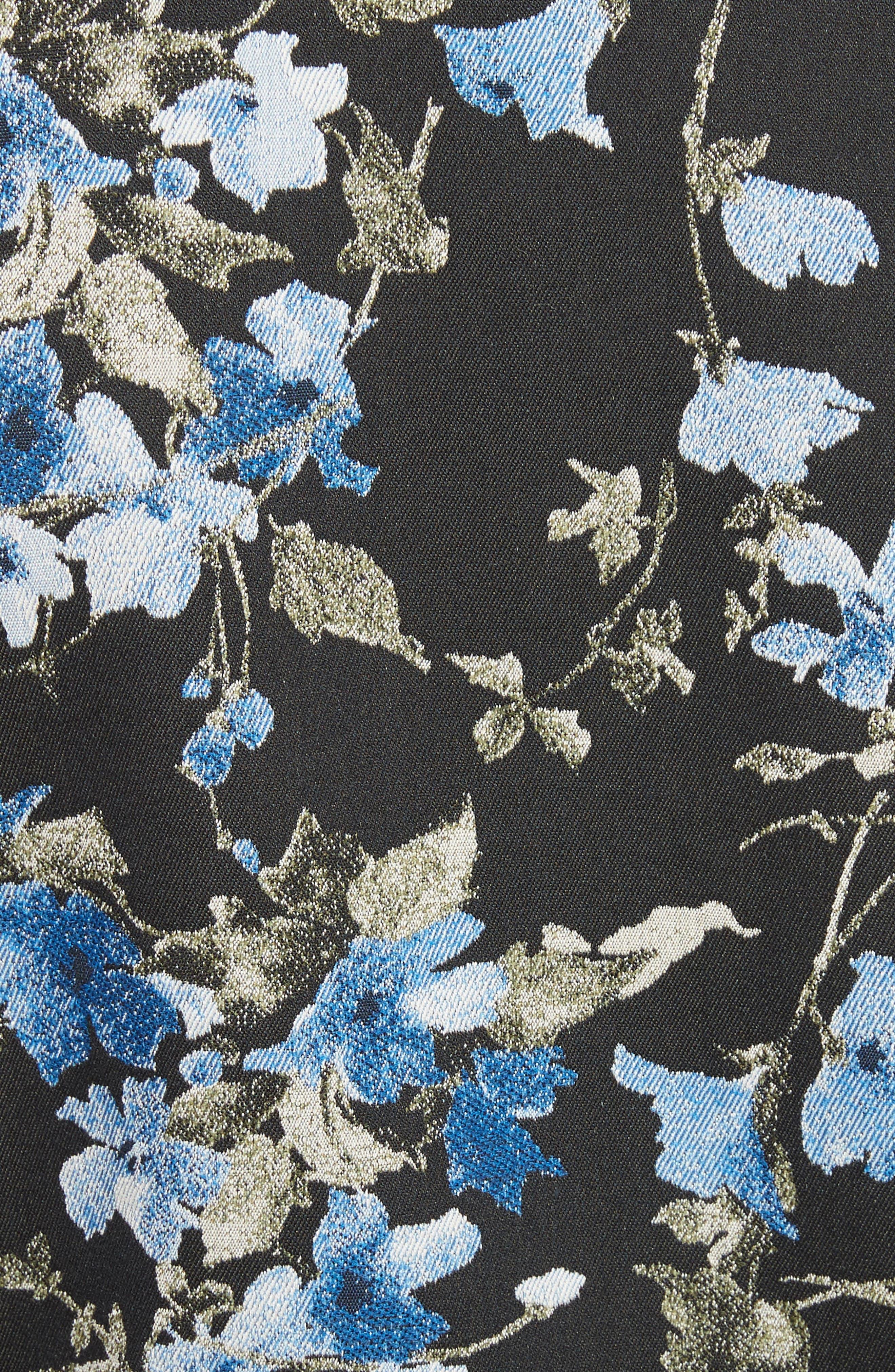 Tuxedo Stripe Floral Jacquard Blazer,                             Alternate thumbnail 6, color,